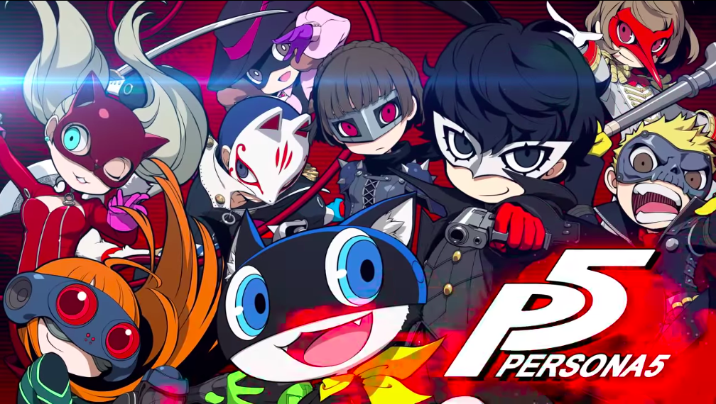 A screenshot of the cuties Persona 5 as they look in Persona Q2