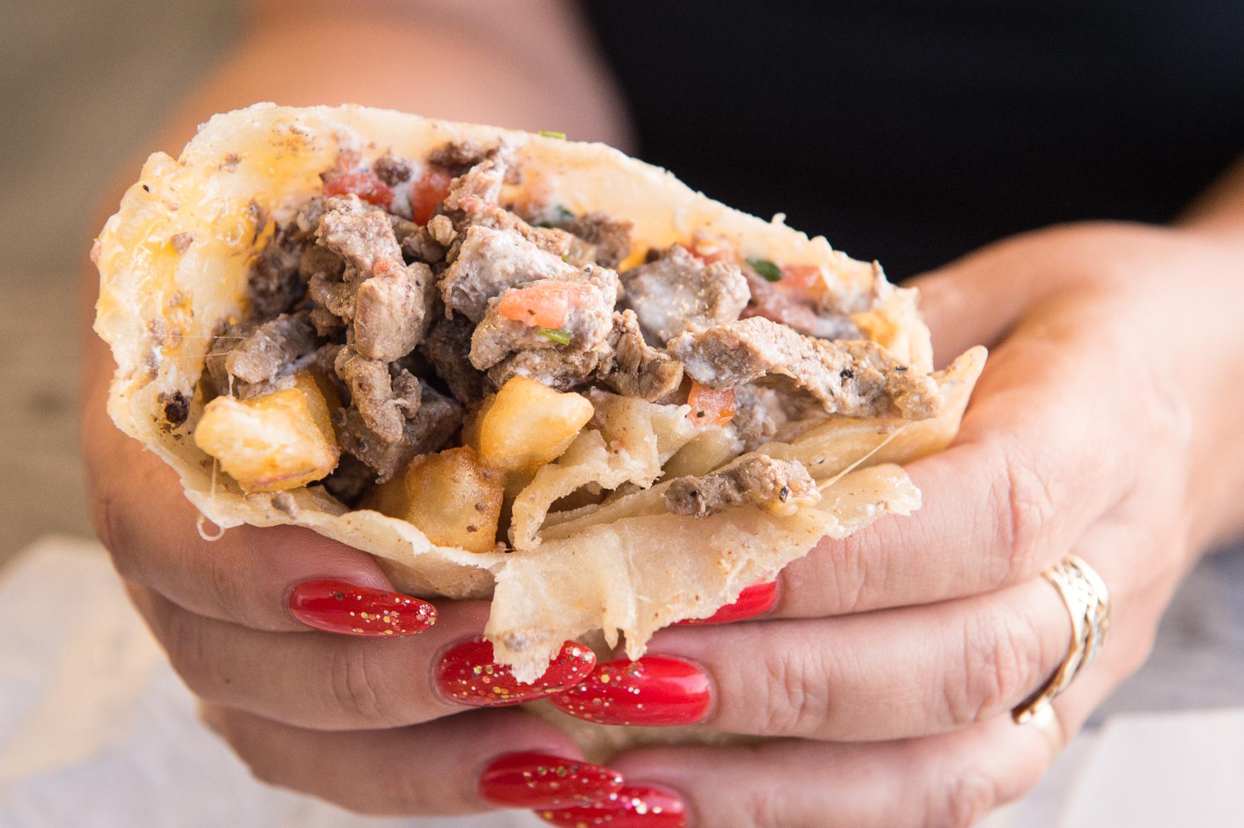 California burrito at Don Carlos in La Jolla