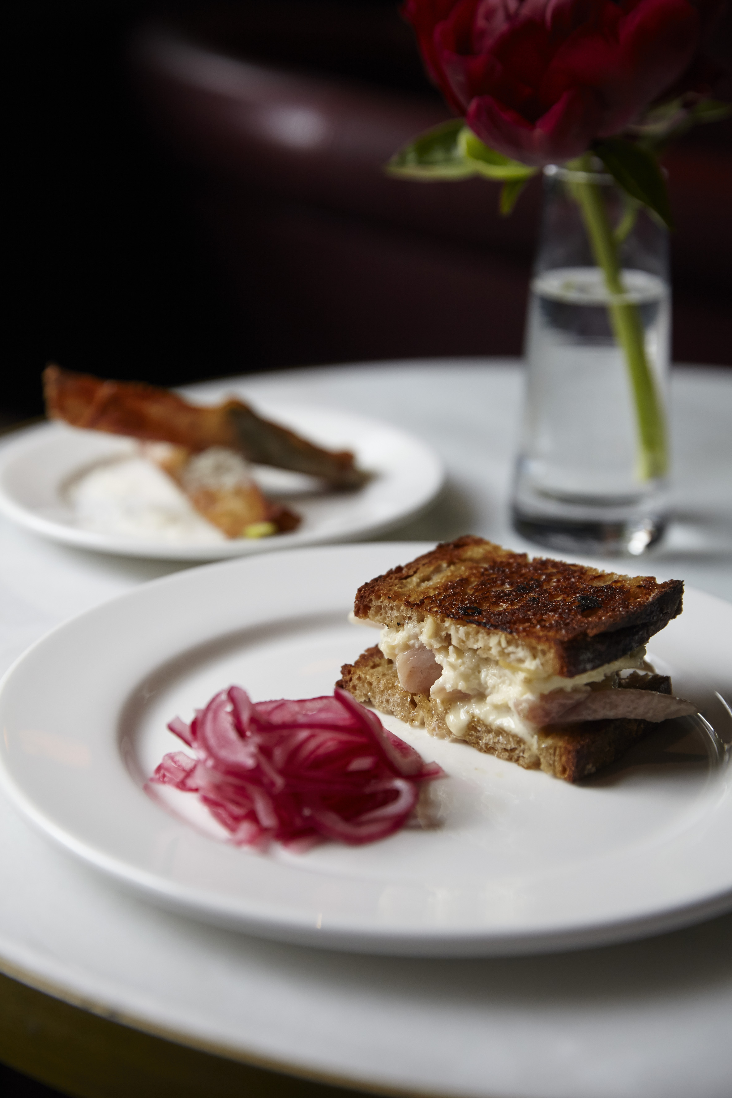 smoked eel sandwich at quo vadis, one of central london's best snacks