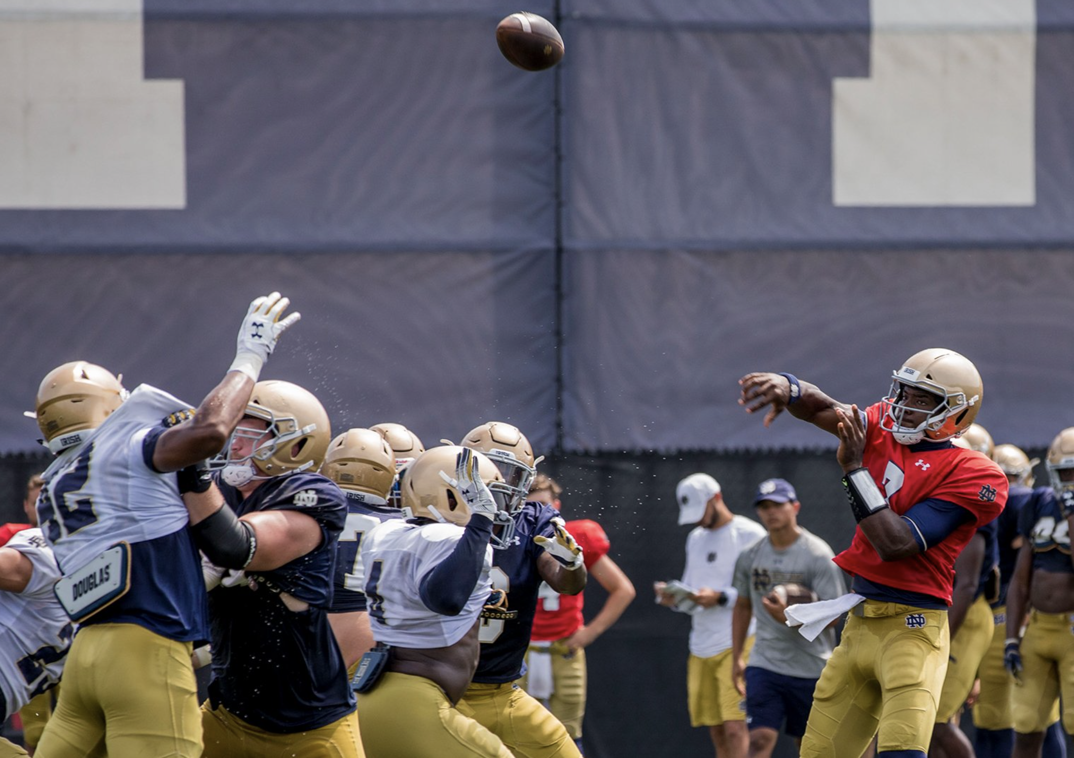 "Notre Dame Football: According To Brian, Wimbush Had ""Guns"