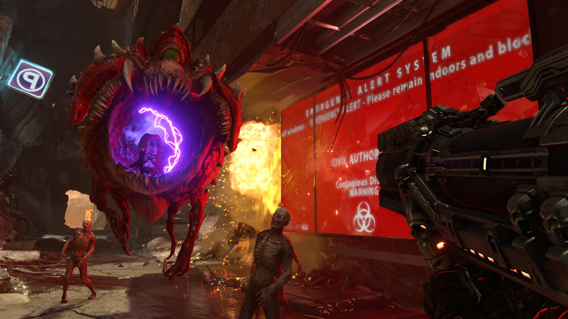 Doom Eternal - emergency alert