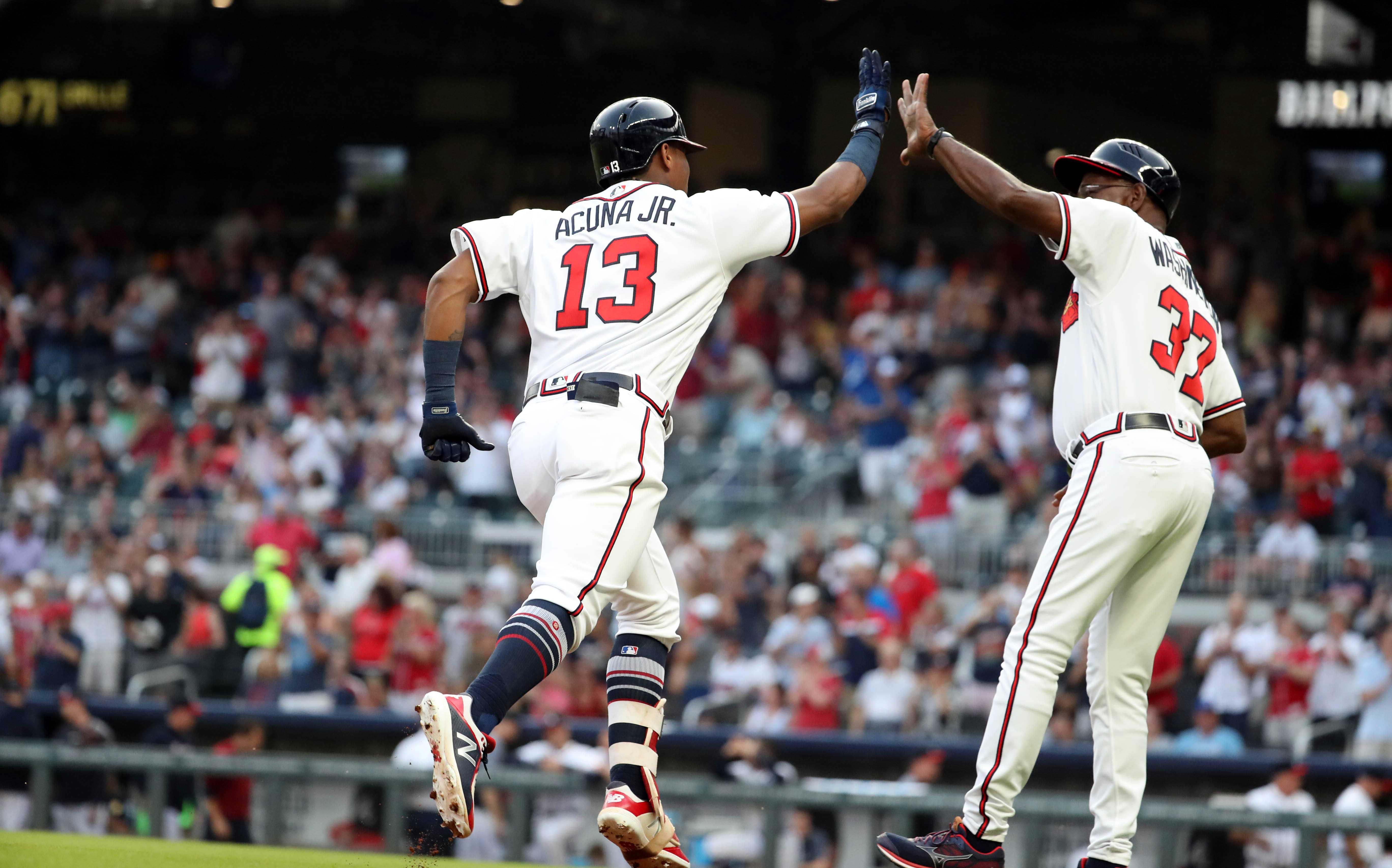MLB: Game Two-Miami Marlins at Atlanta Braves