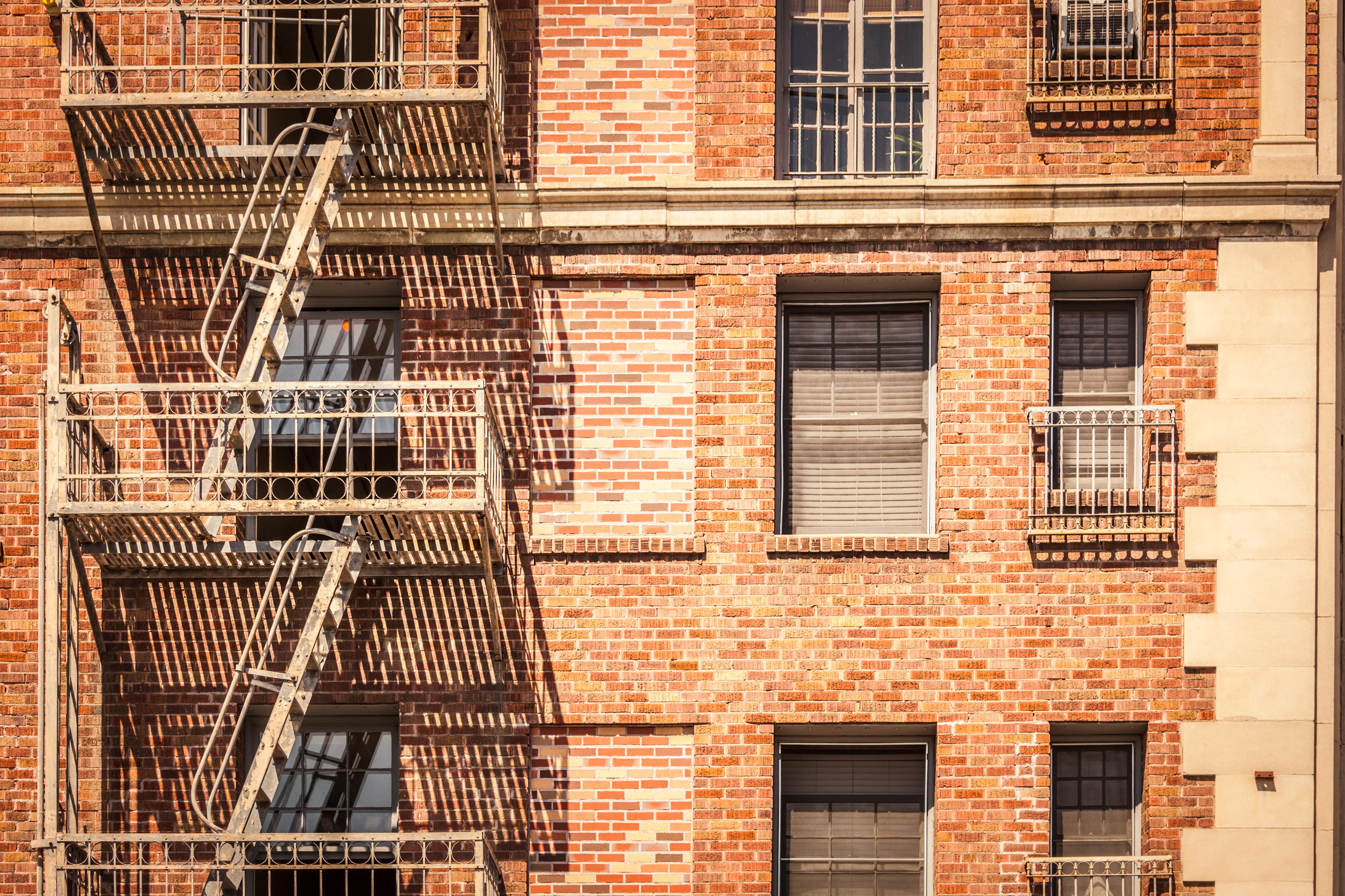 Apartment fire escape
