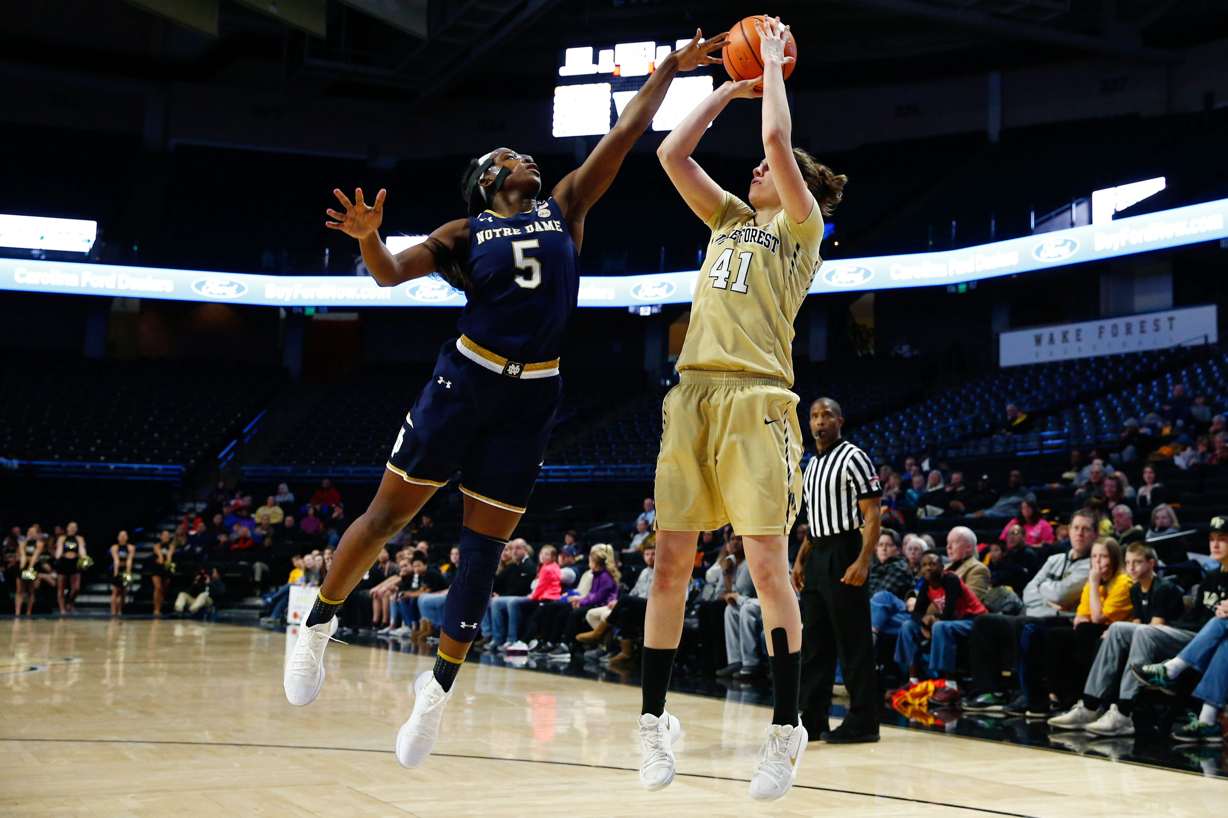 NCAA Womens Basketball: Notre Dame at Wake Forest