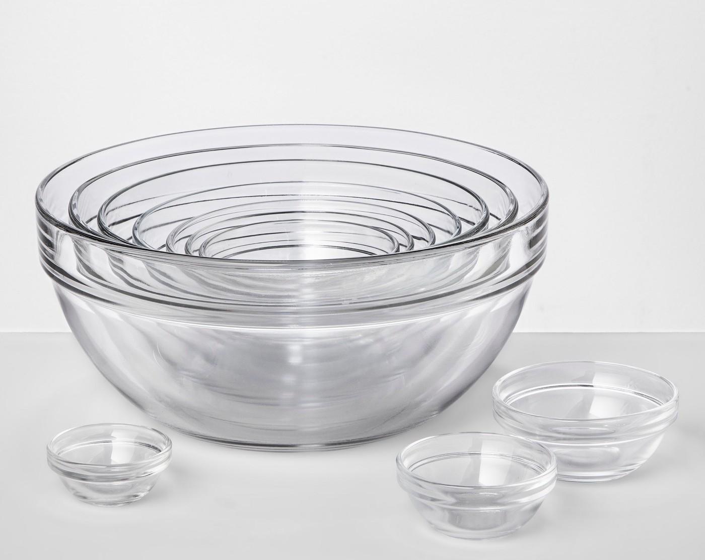 glass mixing bowls