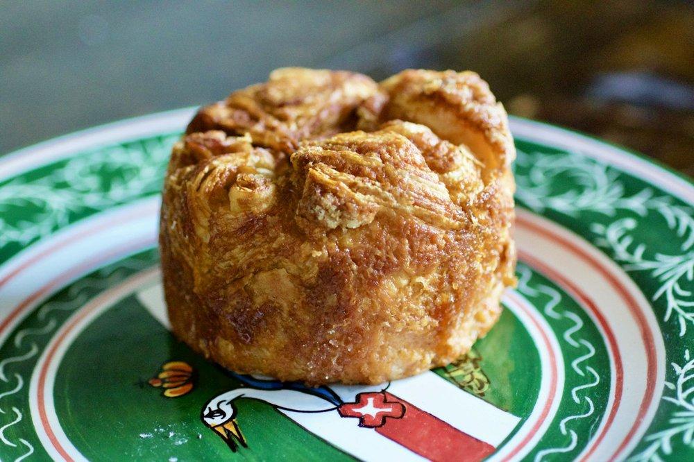 A kouign amann from Manresa Bread