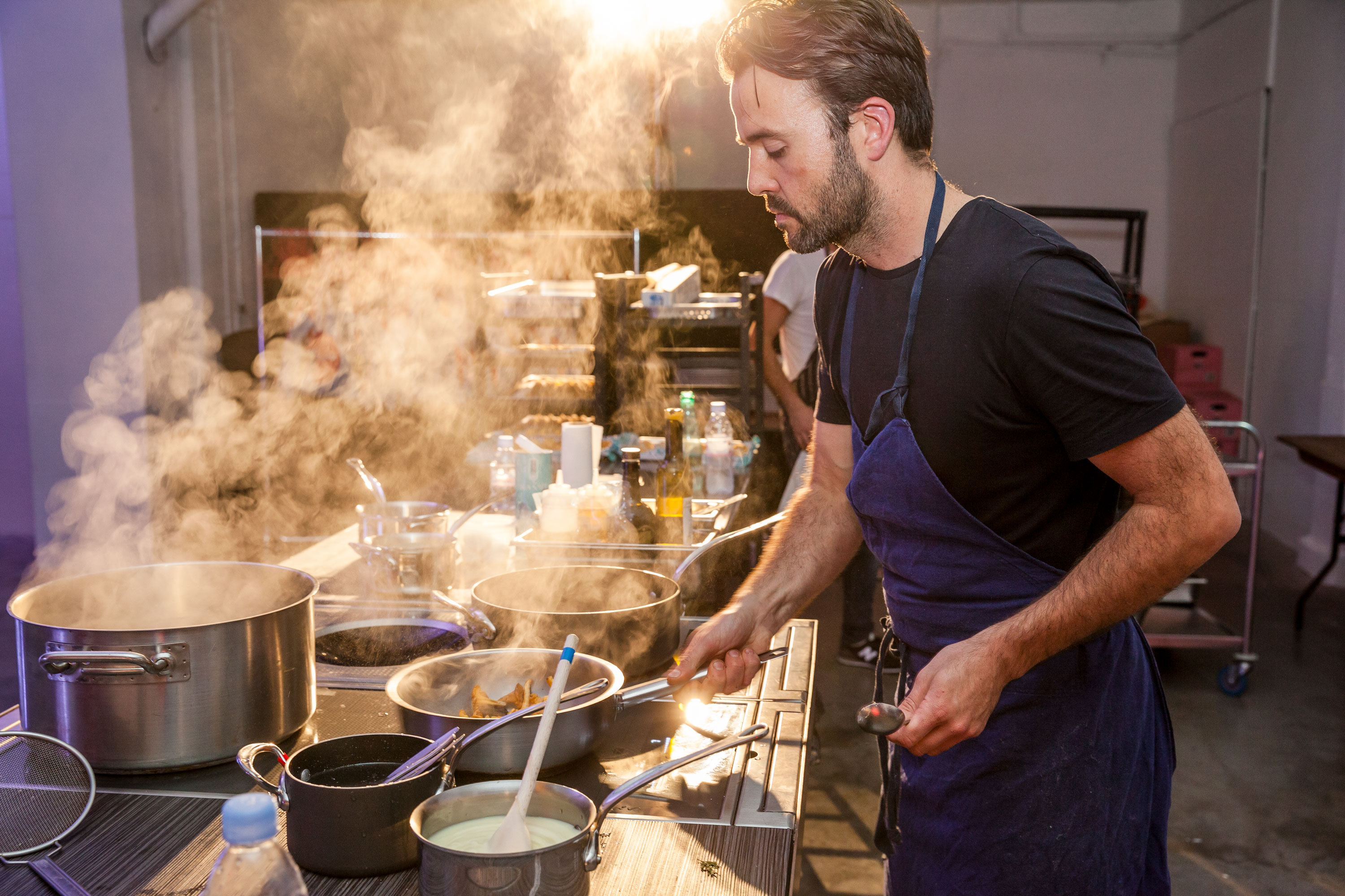 Chef Tim Spedding of Coombeshead Farm, Cornwall, who will cook at Giant Steps in Hackney Wick 1st and 2nd September 2018