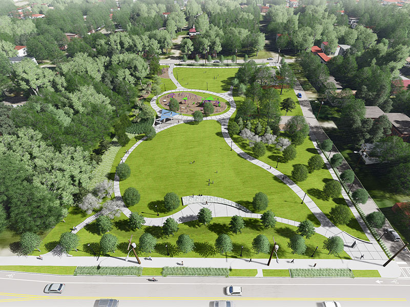 In a rendering we see the vision for Boone Park West.