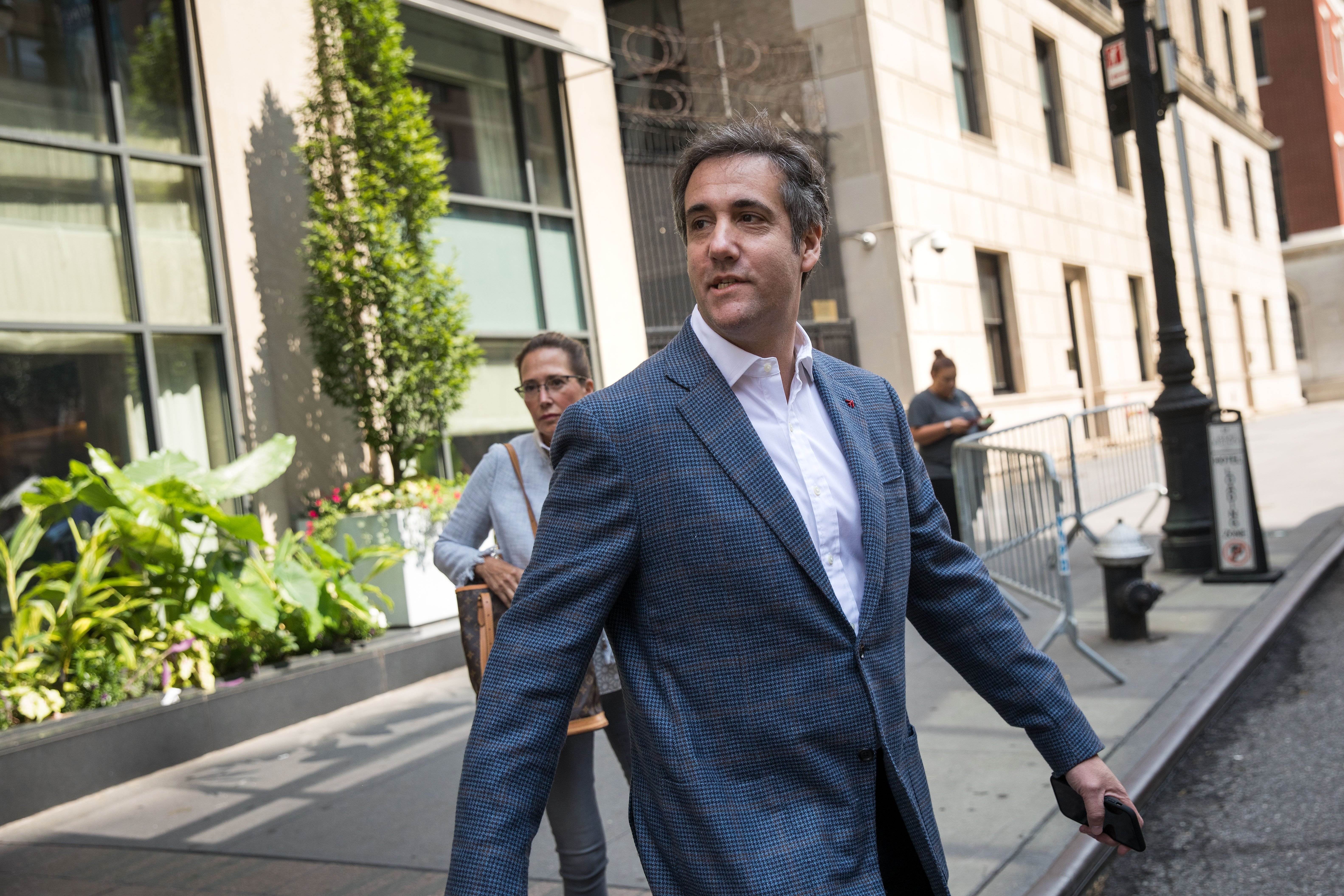 Former Trump Lawyer Michael Cohen Exits The New York Hotel He Currently Lives In