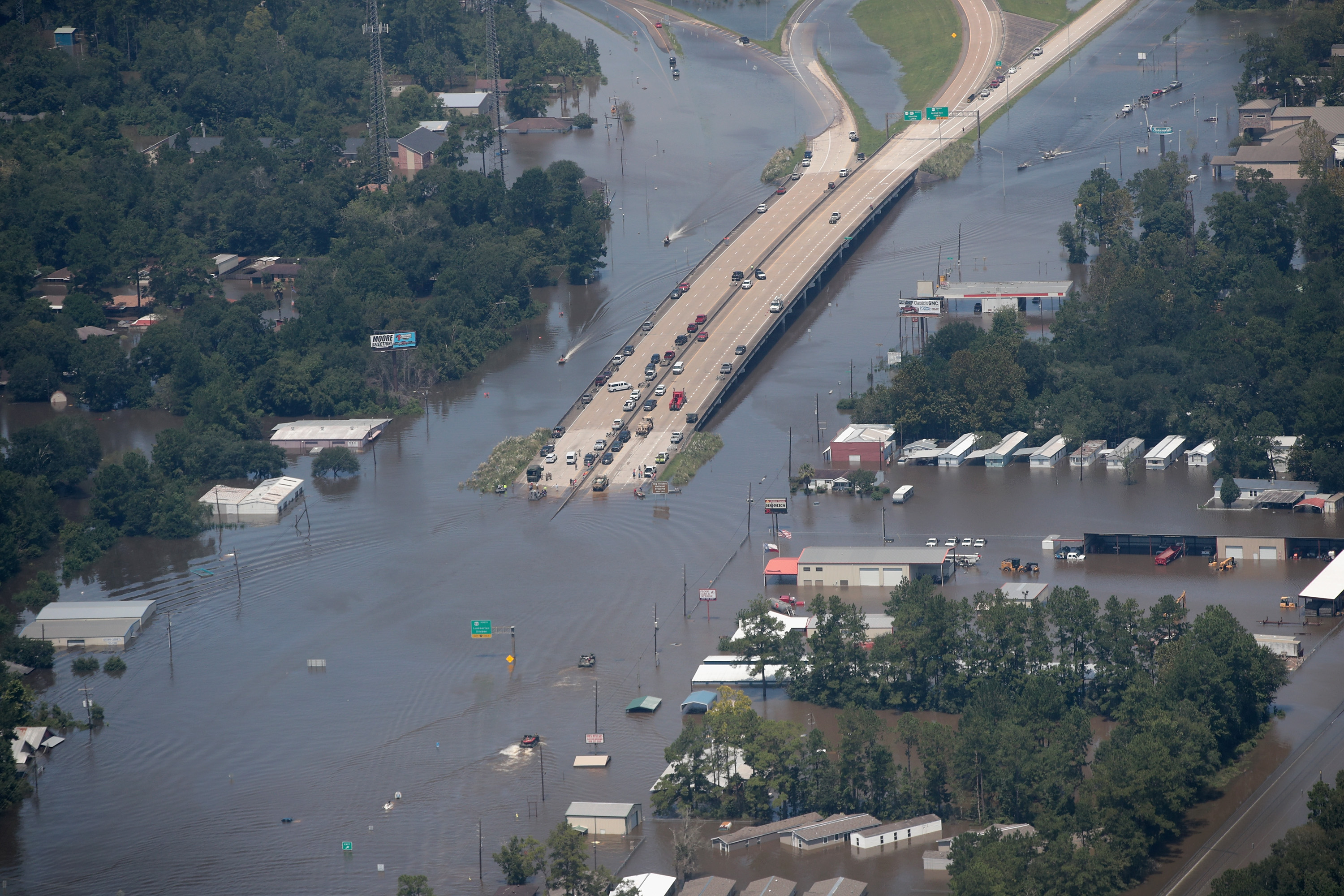Southeast Texas Inundated After Harvey Makes Second Pass Over The Region