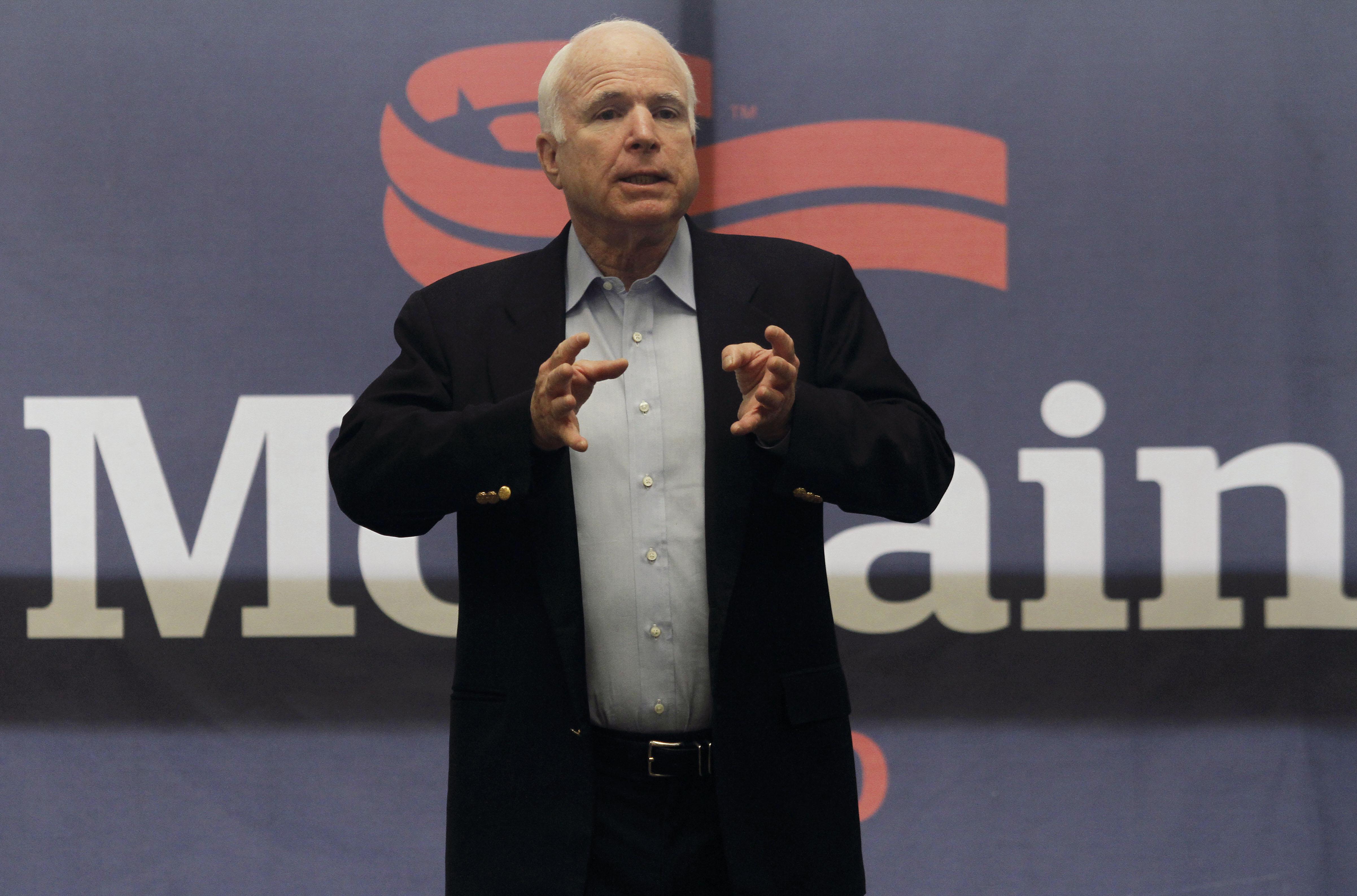 Sen. McCain Campaigns In Arizona