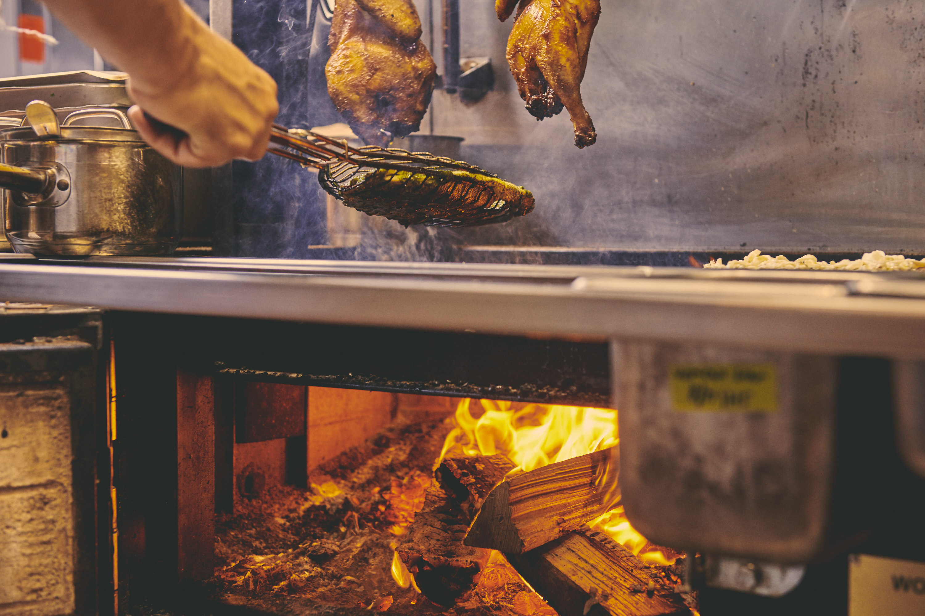 The wood grill at Oxomoco