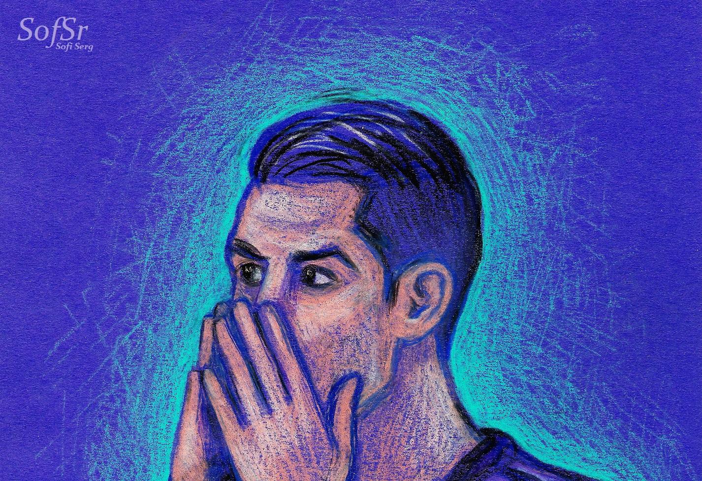 Cristiano Ronaldo. Illustration by Sofi Serg.