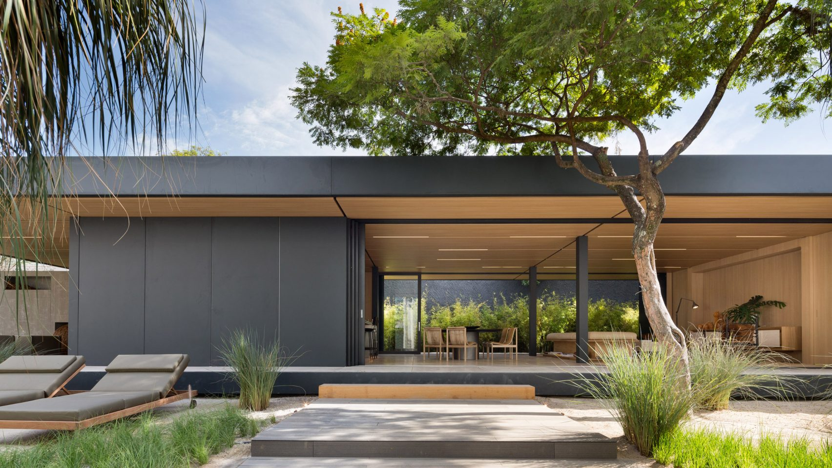 Modern prefab house was constructed in a month