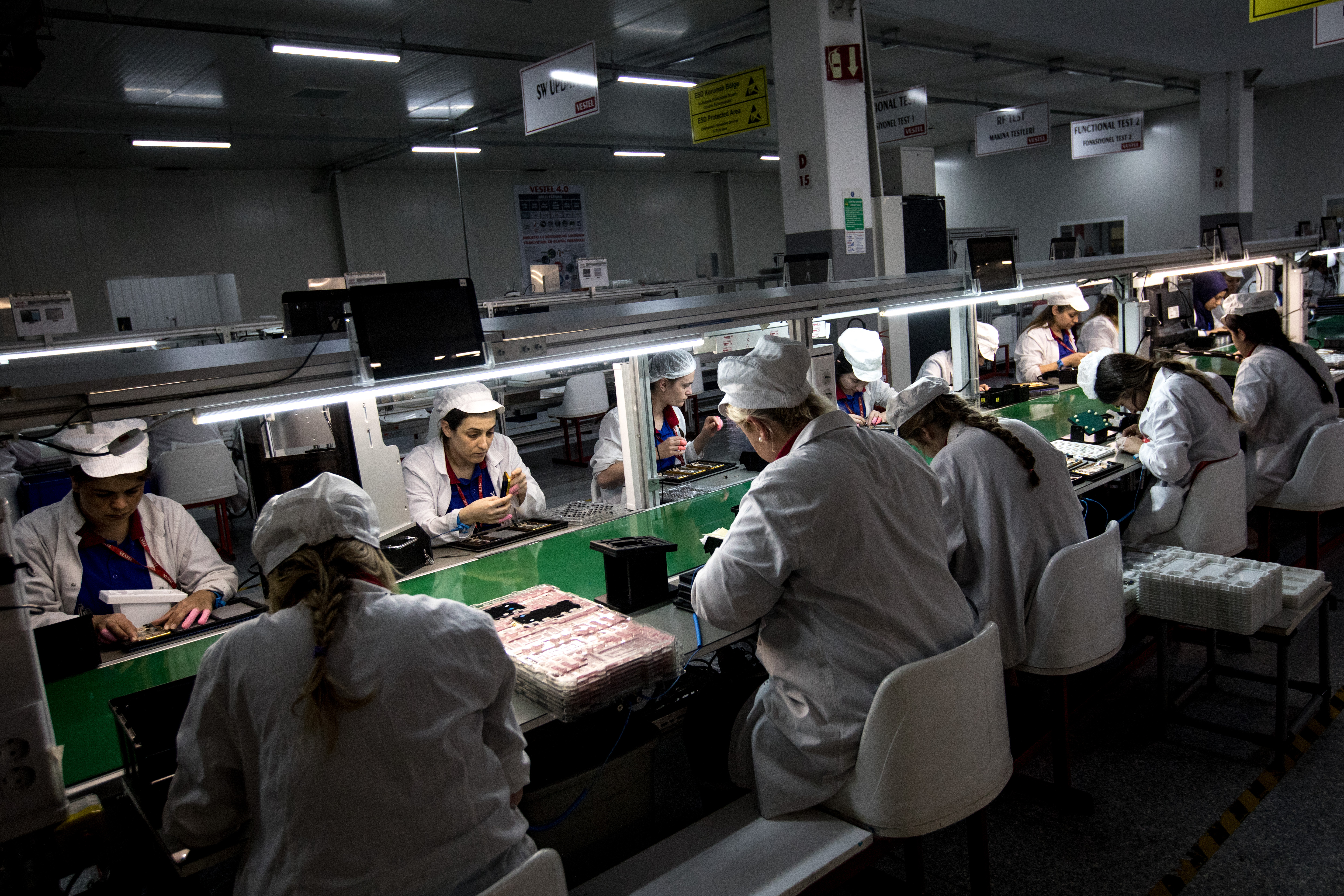 A smartphone assembly line in Turkey