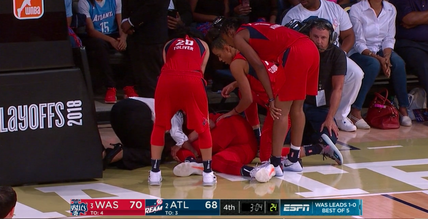 a62e523ab4d Elena Delle Donne s knee injury is just a bone bruise. She s questionable  for Game 3 of the semifinals.
