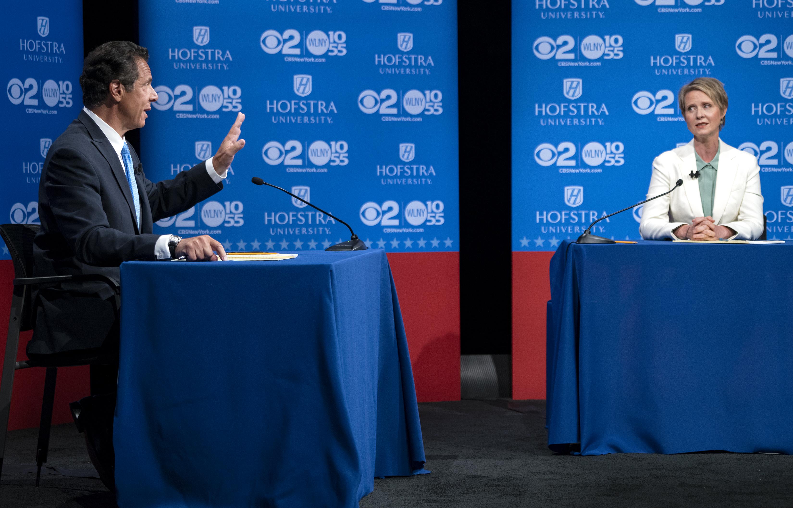Cuomo, NIxon Meet In Only Televised Primary Debate