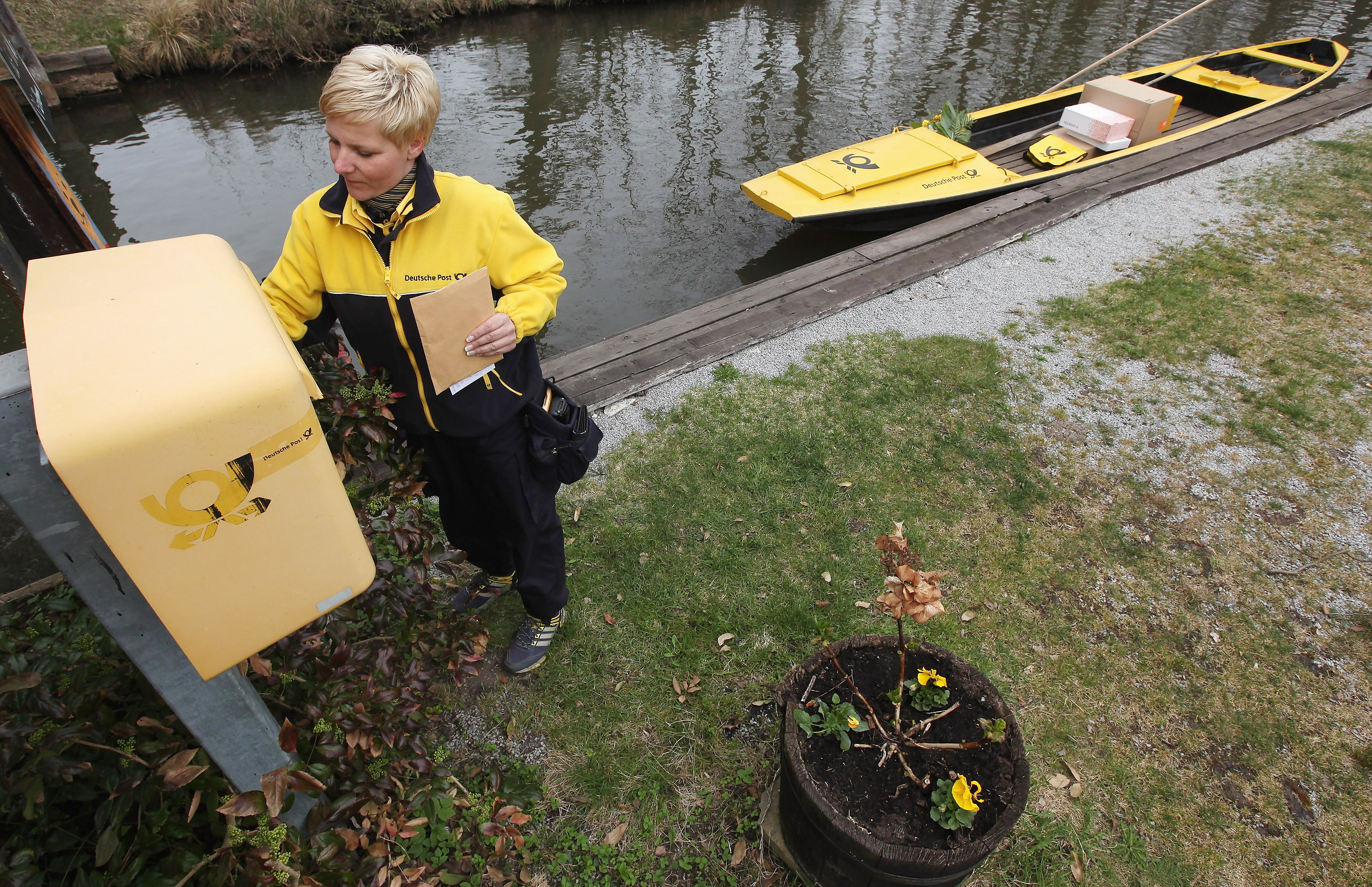 Post Delivered By Boat In Spreewald Canals