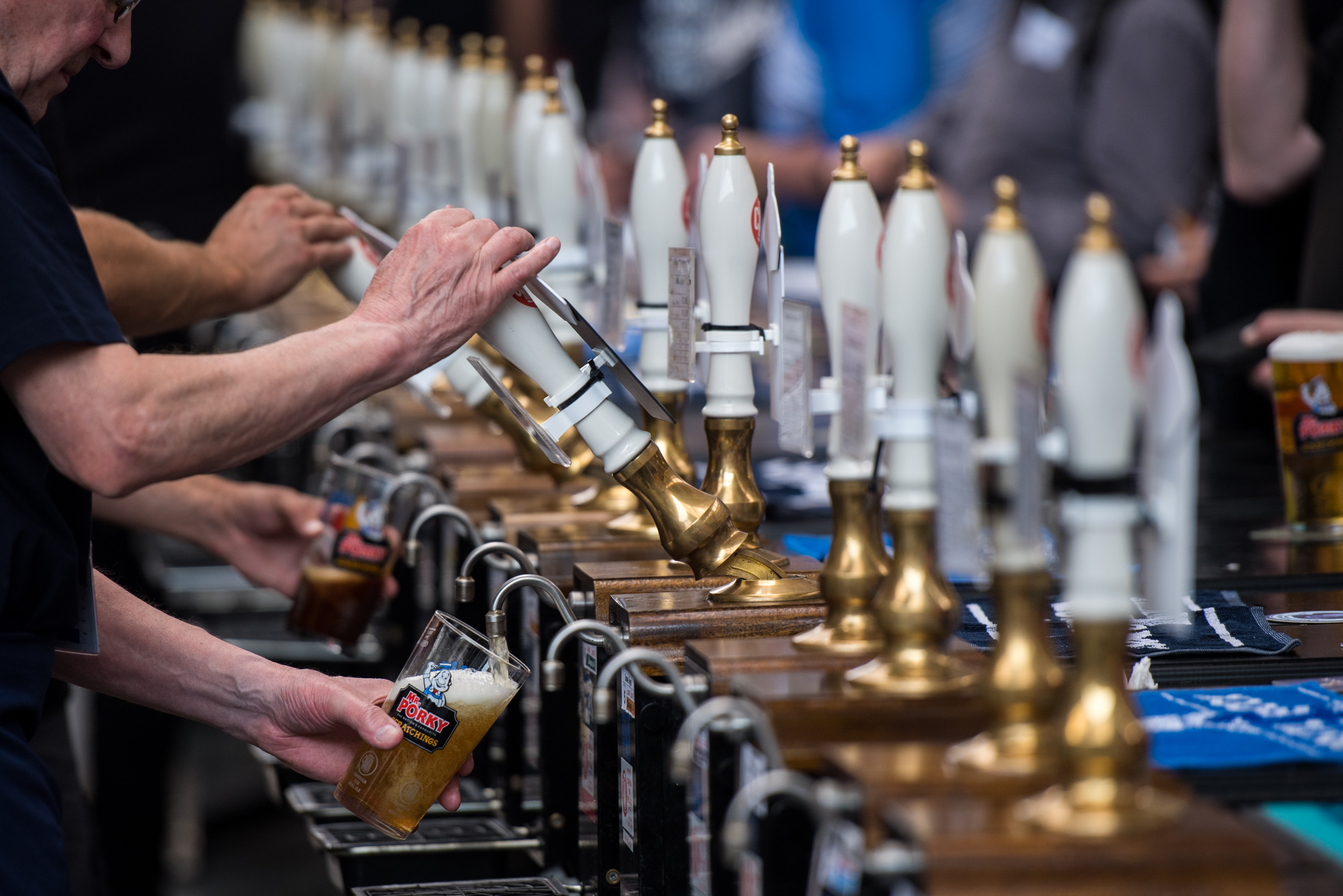 Real Ale Enthusiasts At The Great British Beer Festival