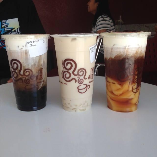 Gong Cha's milk teas