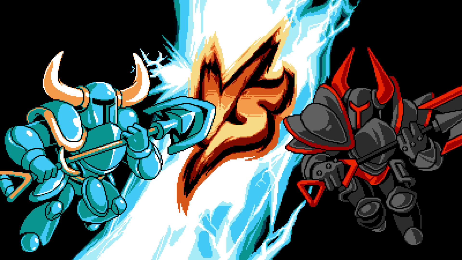 Shovel Knight Showdown versus screen