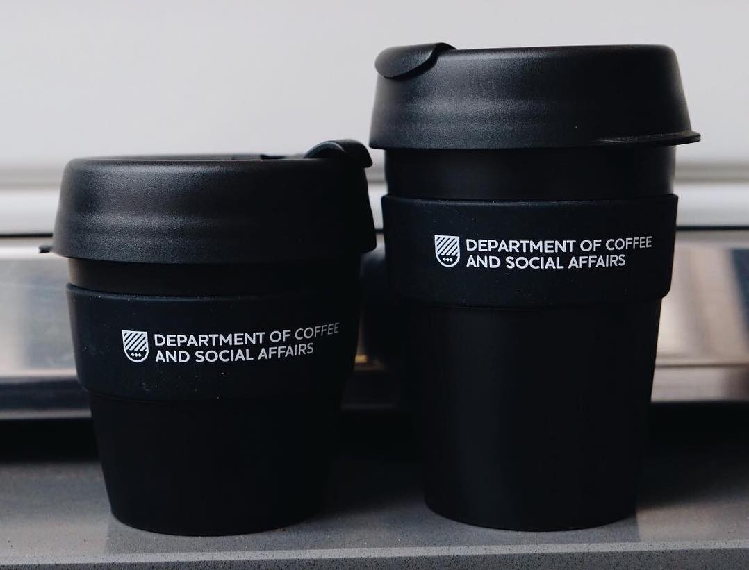 Keep cups from Department of Coffee and Social Affairs, London's biggest speciality coffee chain with seven new sites in the pipeline