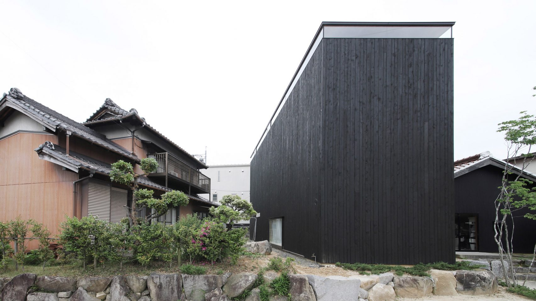 Outside of black cedar house