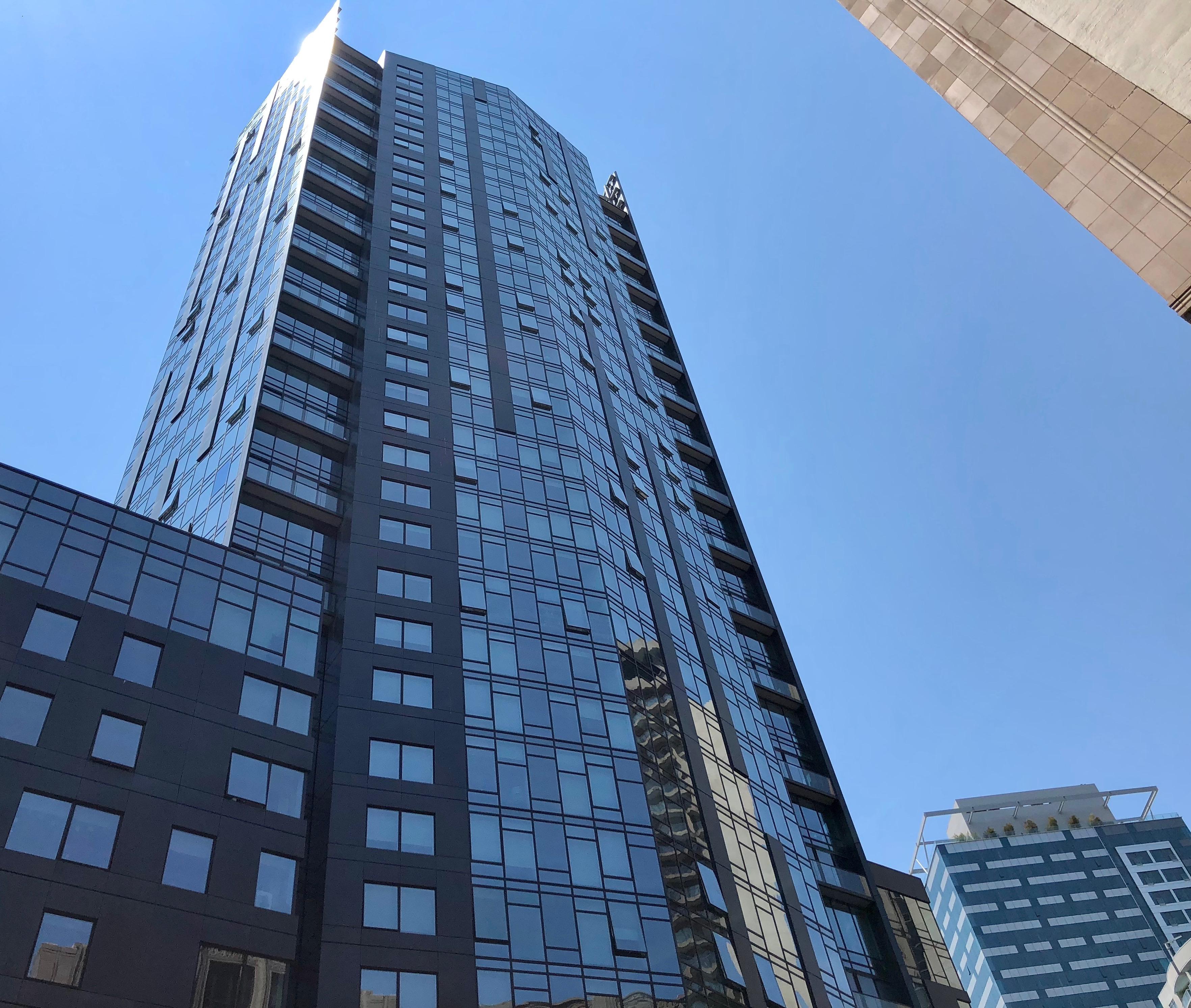Tall glass facade high-rise
