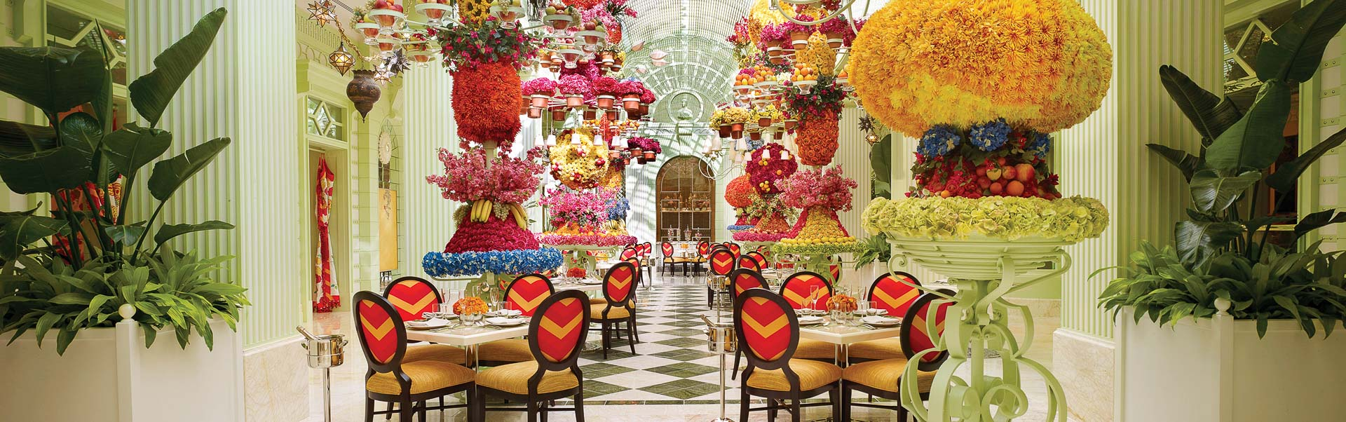 The atrium at The Buffet at Wynn