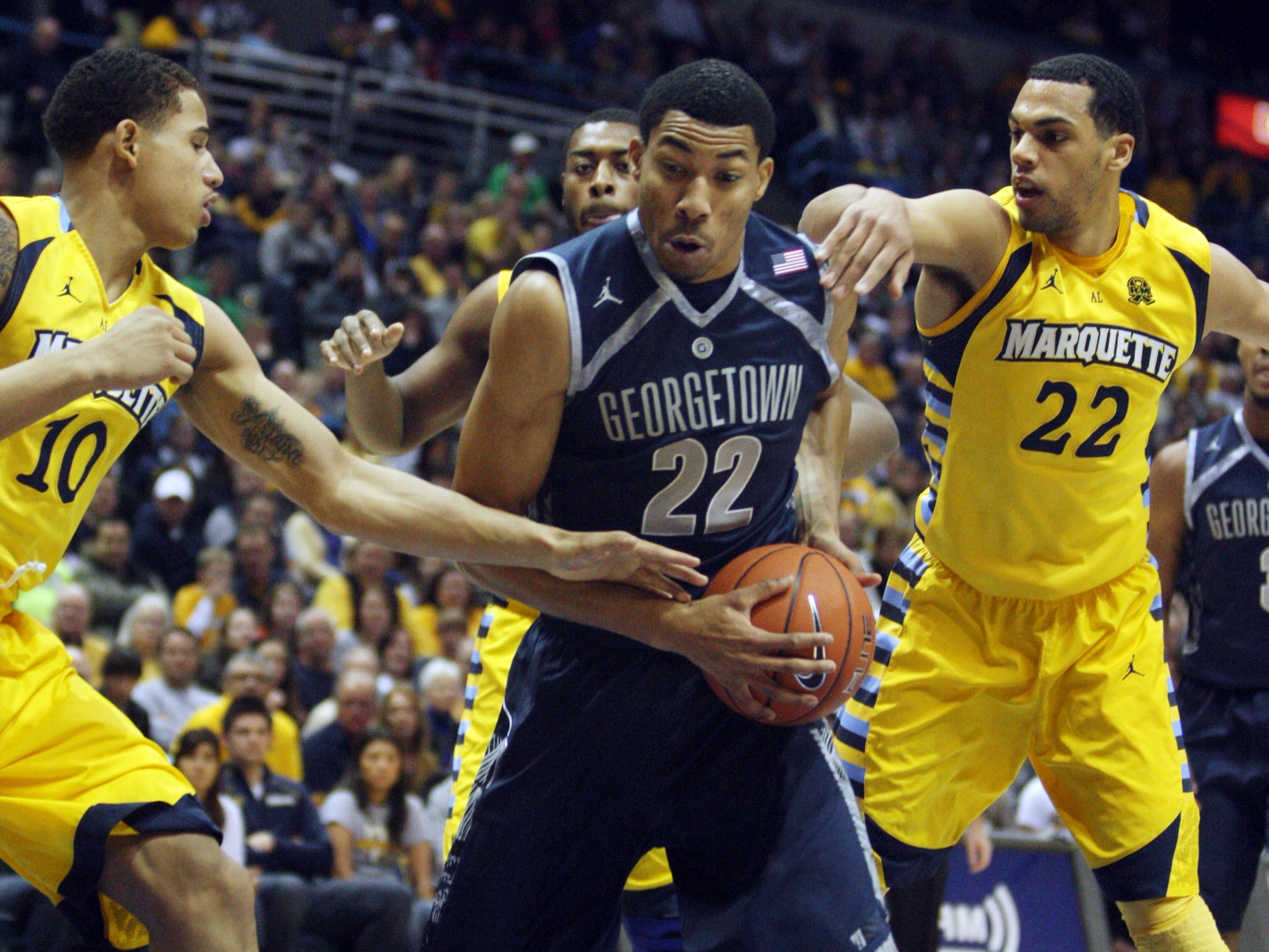 Otto Porter found little room to move all afternoon.
