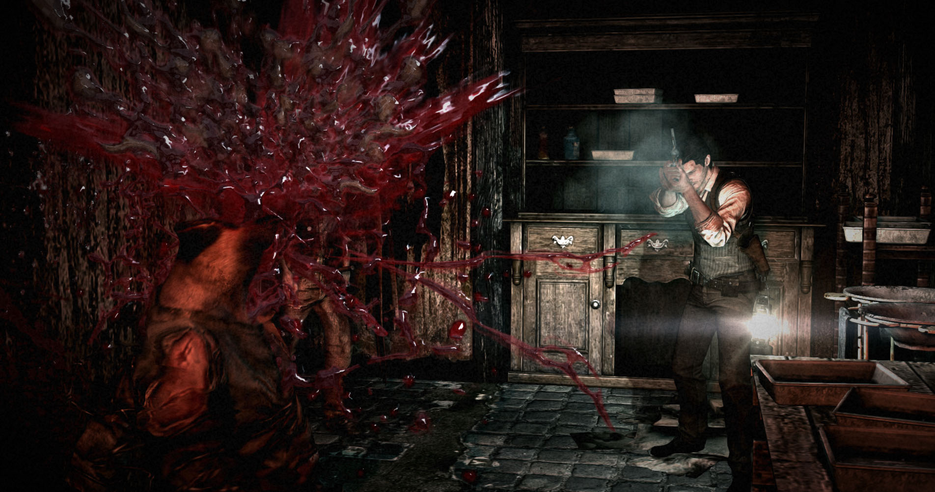 The Evil Within's first 15 minutes sets a spooky and suspenseful tone
