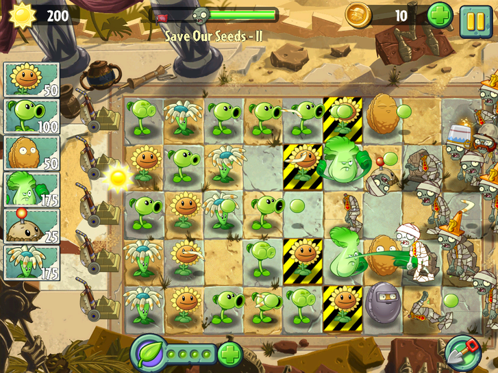 Plants vs. Zombies 2: It's About Time's campaign threads 'Brain Busters'