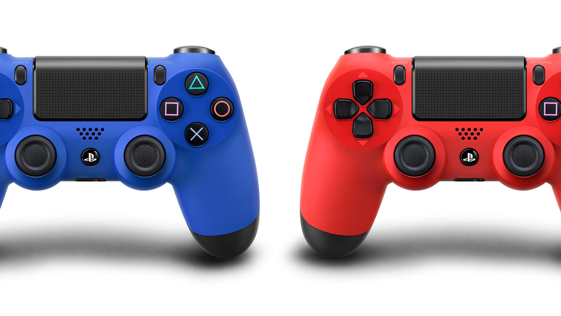 DualShock 4 controller coming in 'Magma Red' and 'Wave Blue' colors