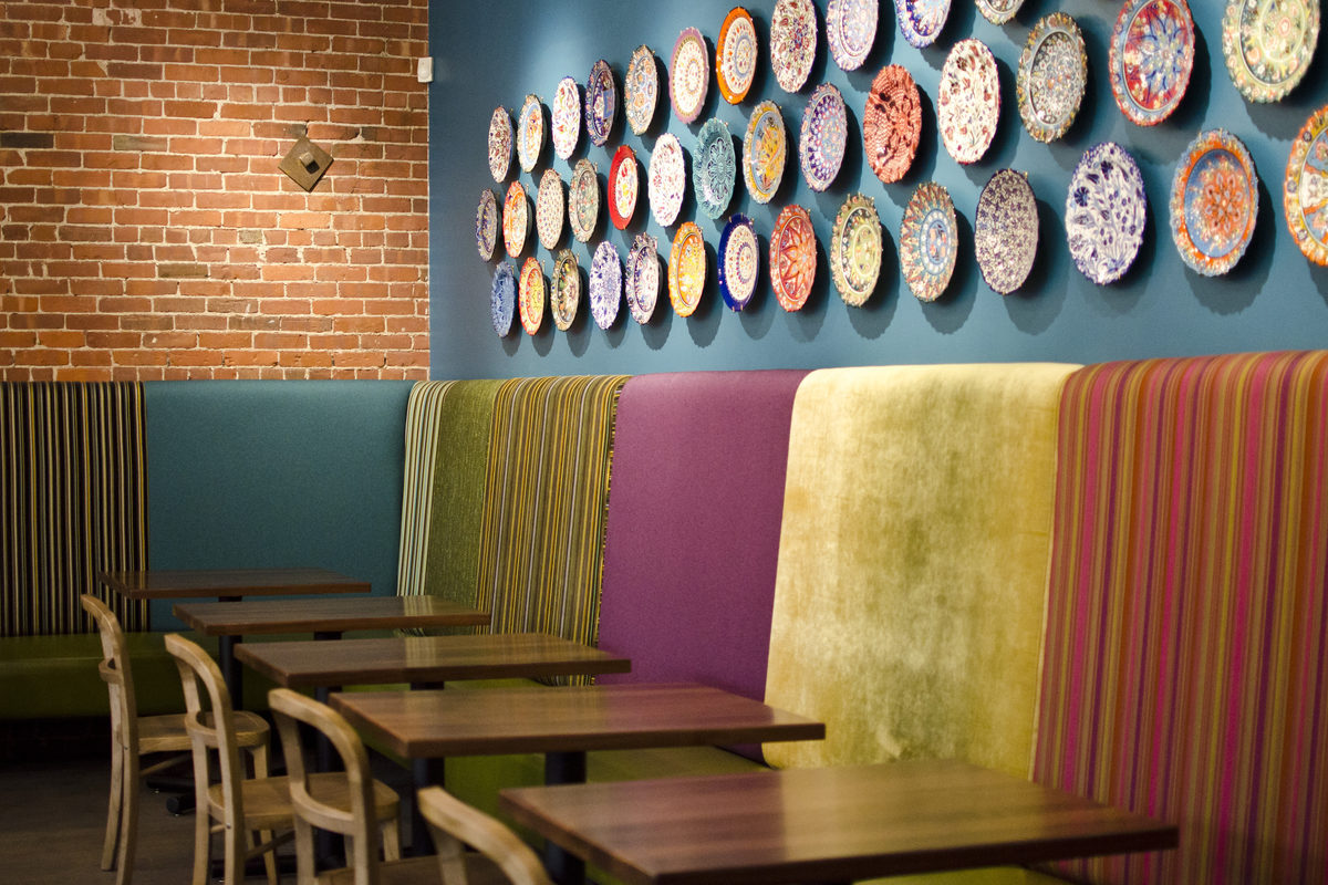 Ogle Sarma's Bright Colors and Snazzy Lamps