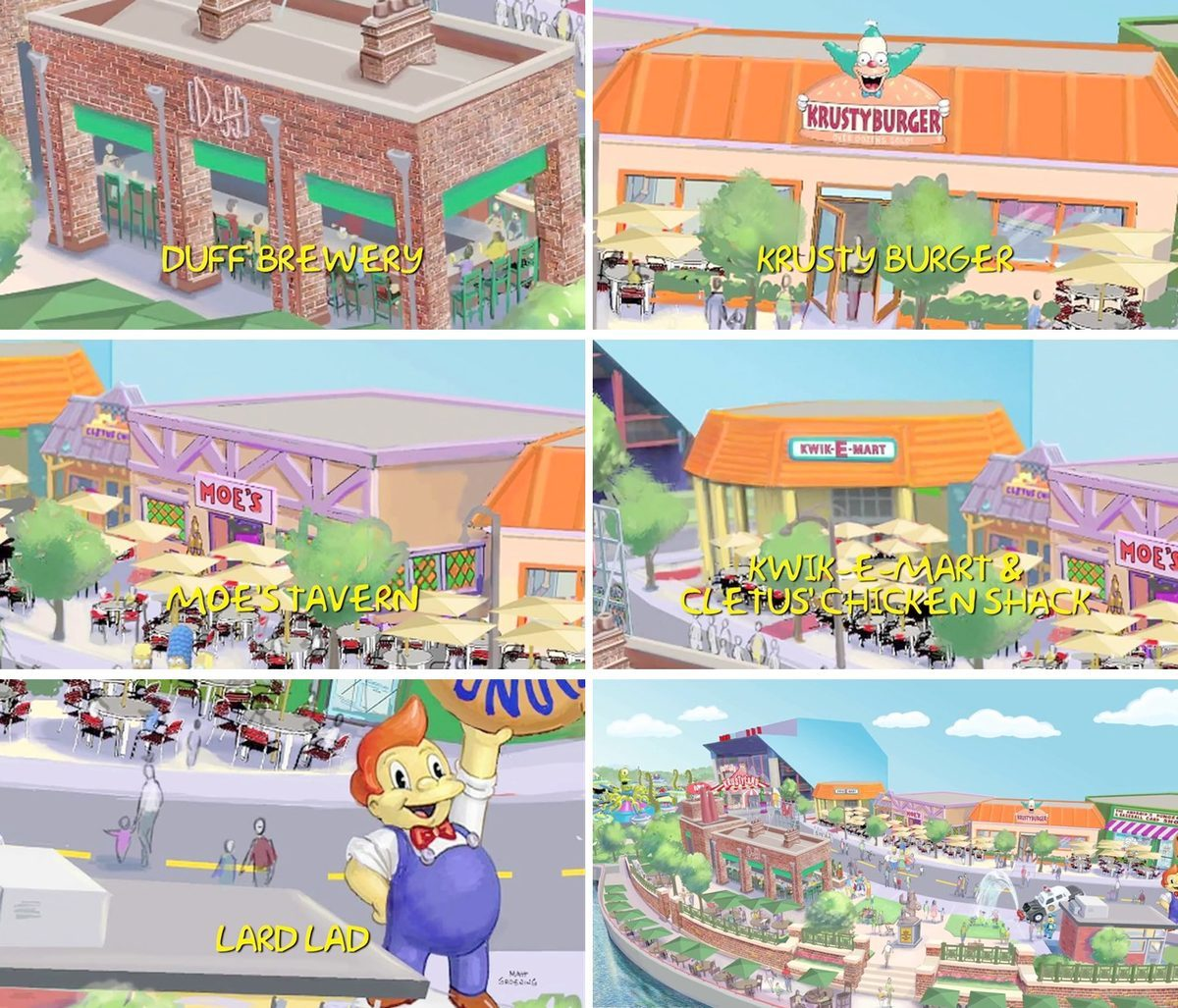 A Simpsons Theme Park to Open With a Real-Life Krusty Burger, Moe's Tavern, and More