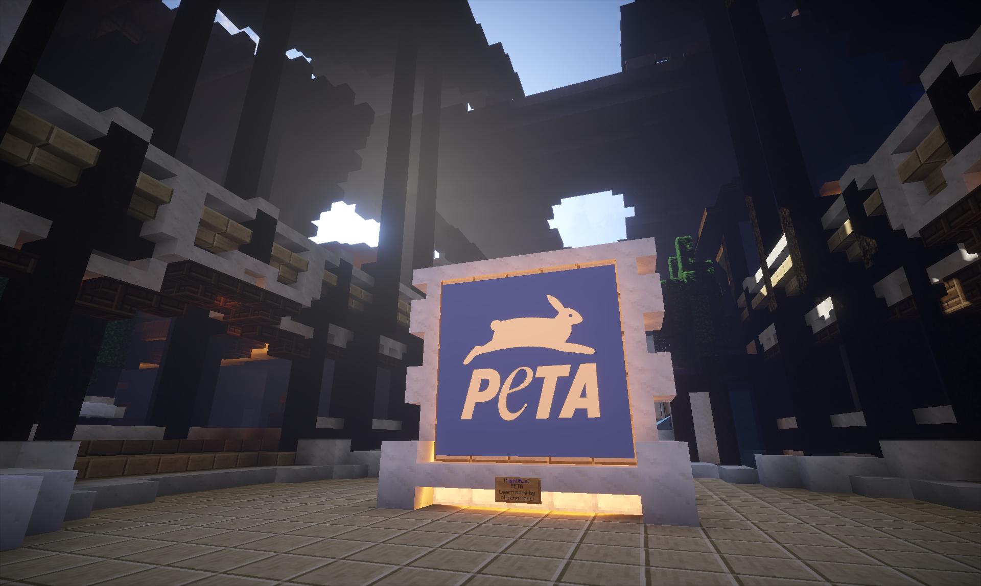 PETA opens headquarters in Minecraft, creates animal utopia