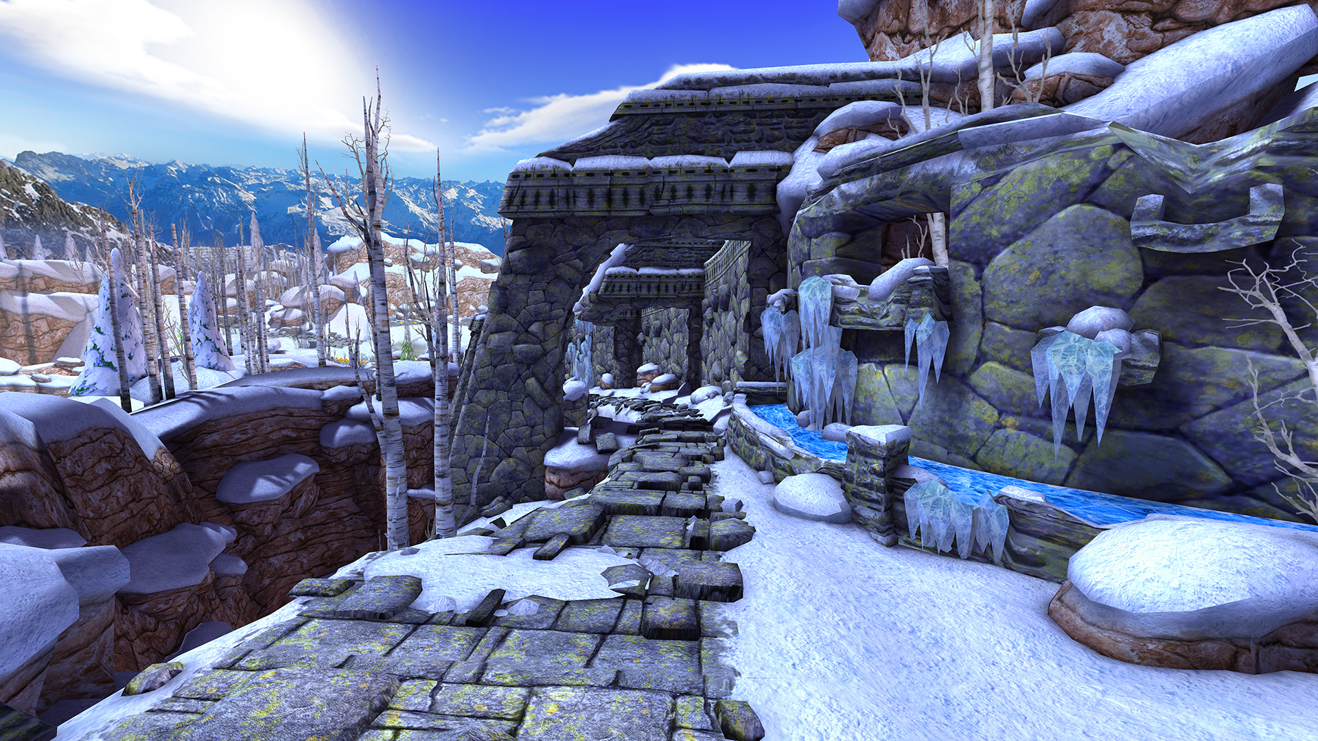 Virtual reality Temple Run is a free first-person endless runner
