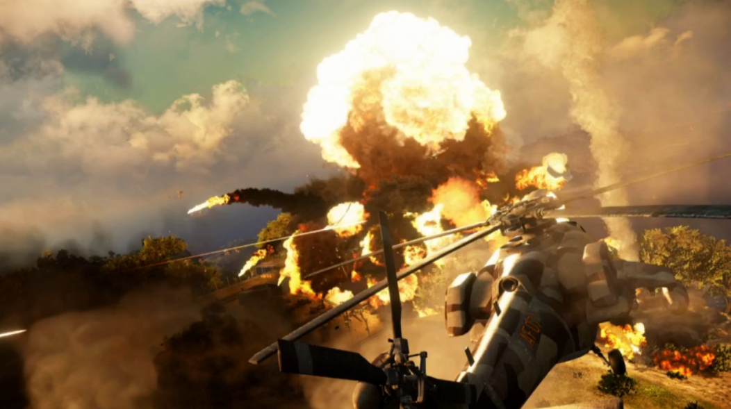 Scenes from Just Cause 3's destructive playground