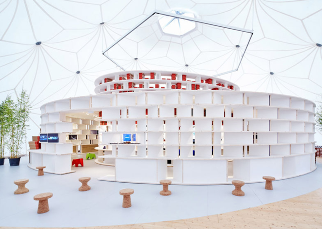 A Buckminster Fuller Dome on the Vitra Campus is Now a Pop-Up Shoe Store