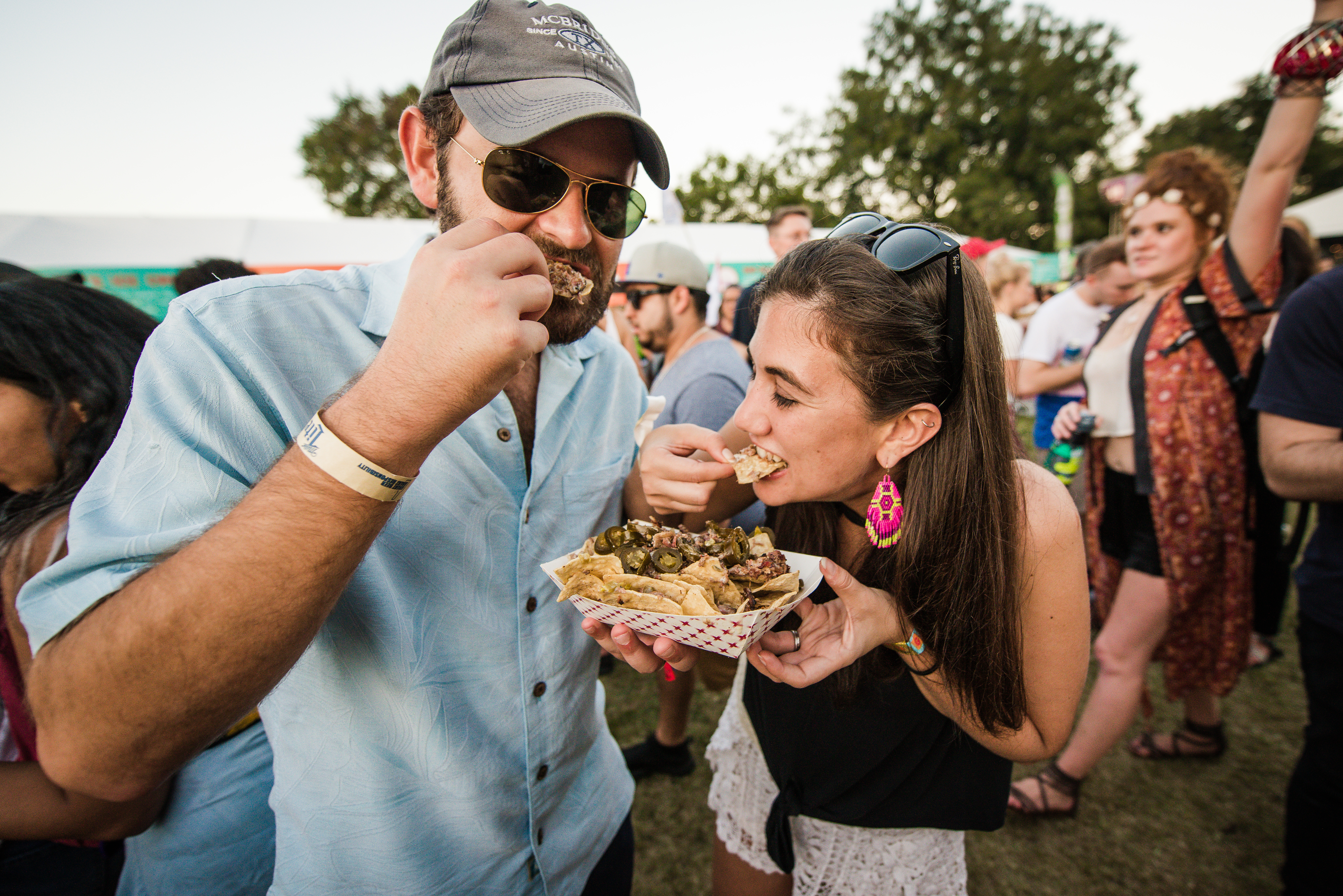 Eating at Austin City Music Festival in 2017