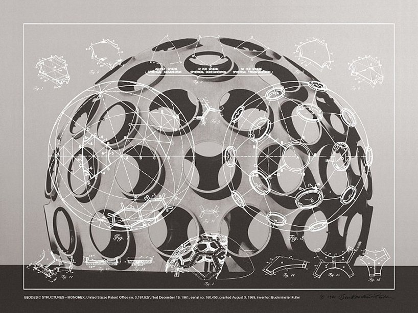 print of geodesic structure
