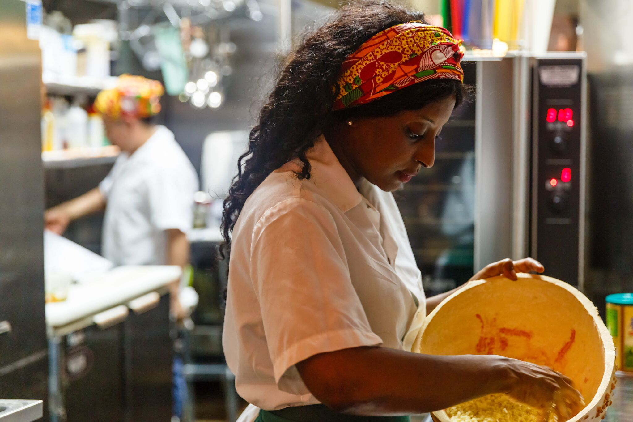 Diana Tandia at her new restaurant Berber Street Food