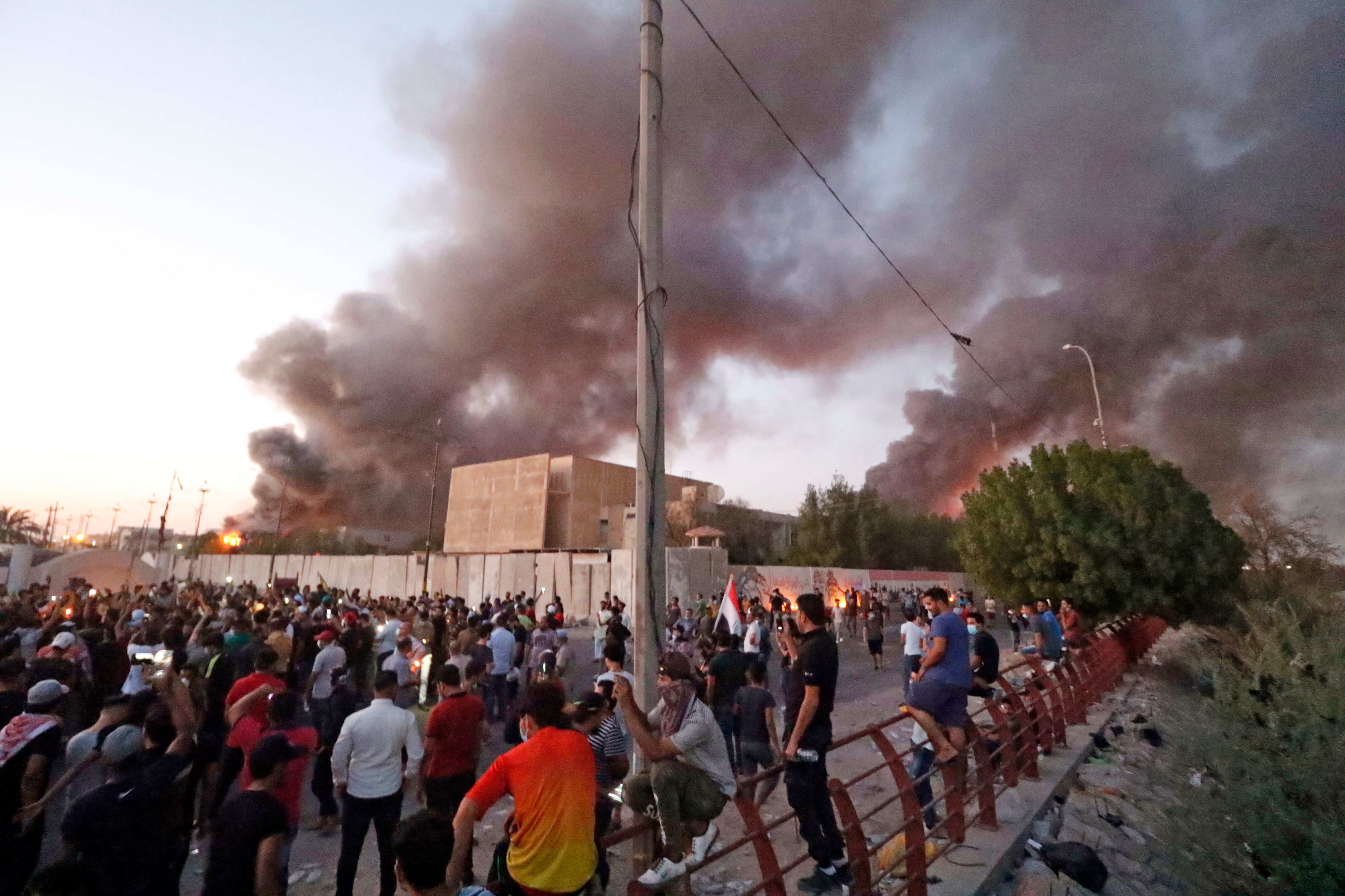 Basra, Iraq, protests: protesters have torched nearly every government building