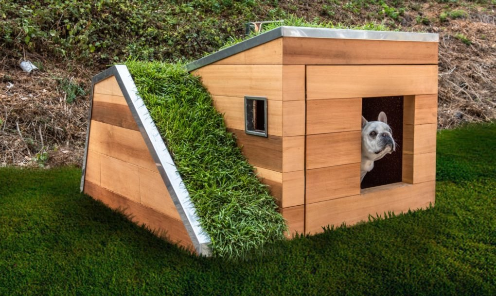 Next-level sustainable dog house puts all other dog houses to shame