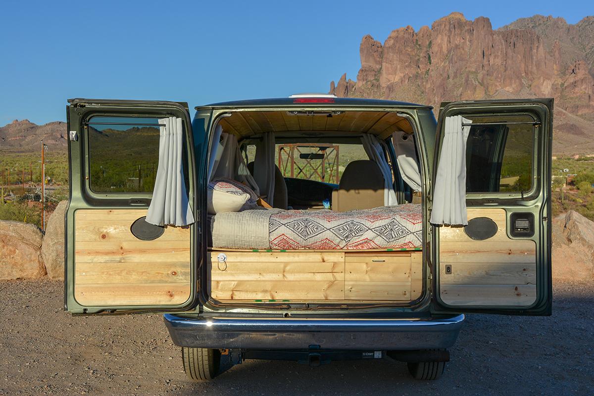 Boho-chic, fully converted camper van is $35K