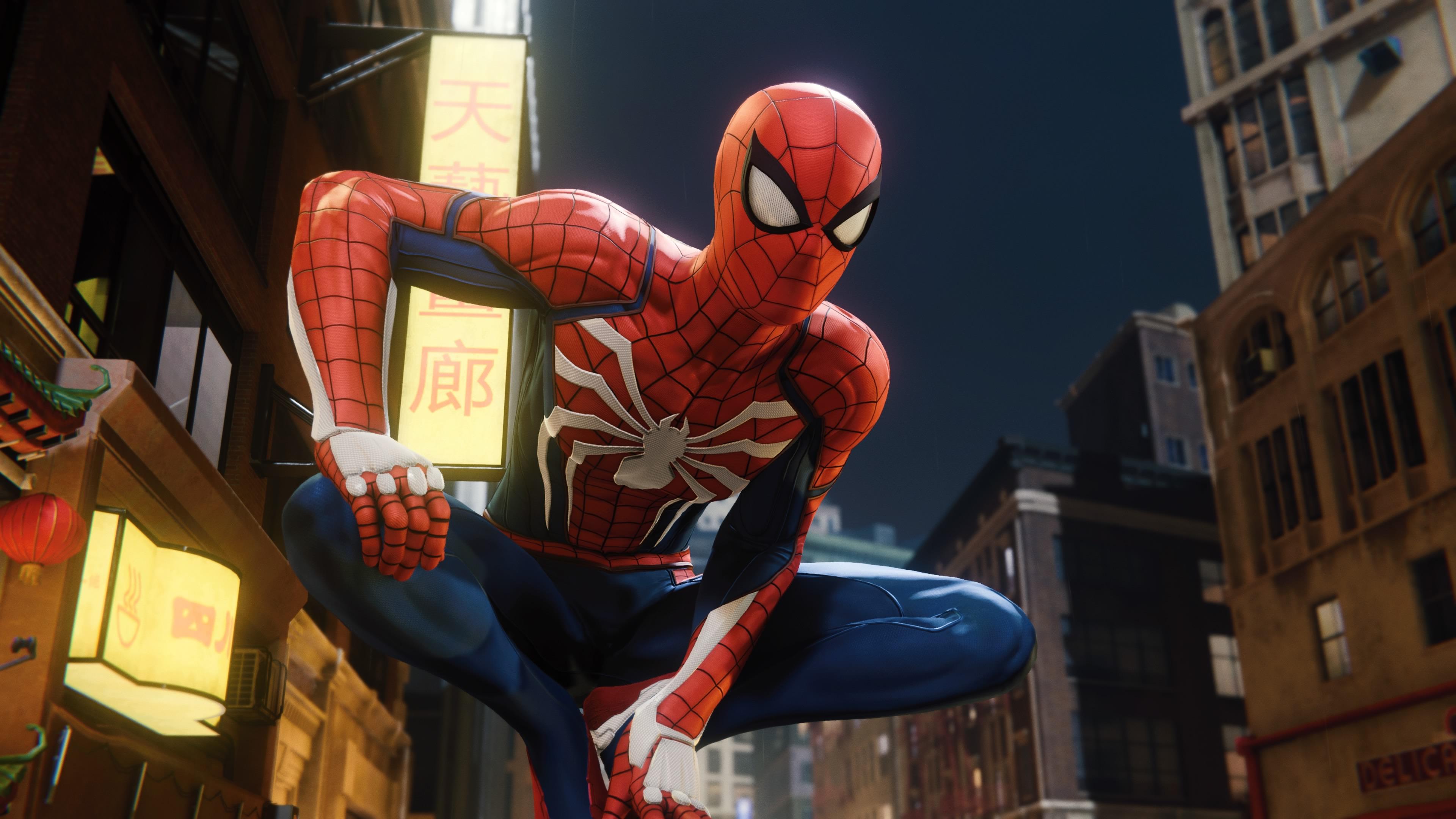 Spider-Man PS4 - Spidey perched
