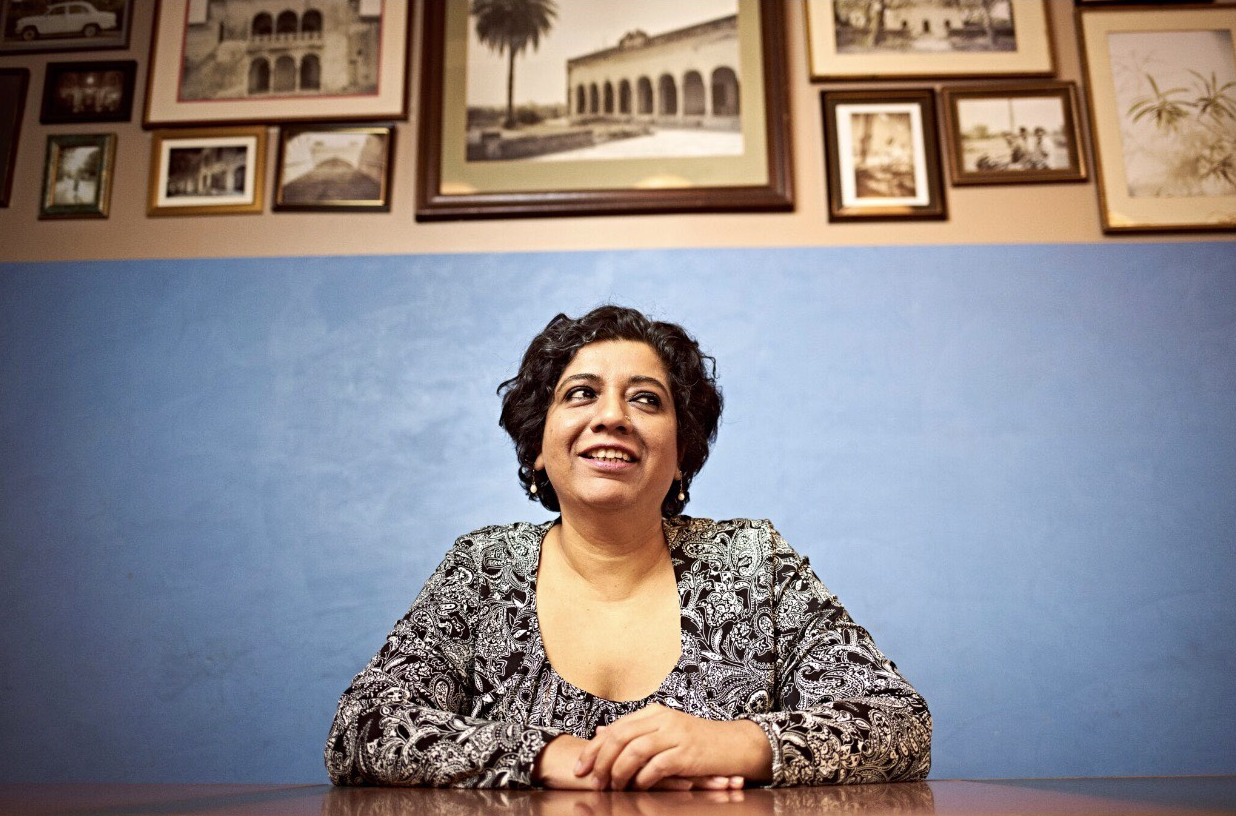 Chef's Table star Asma Khan of Darjeeling Express Soho, featured in A Meeting Place Instagram zine by Romy Gill MBE