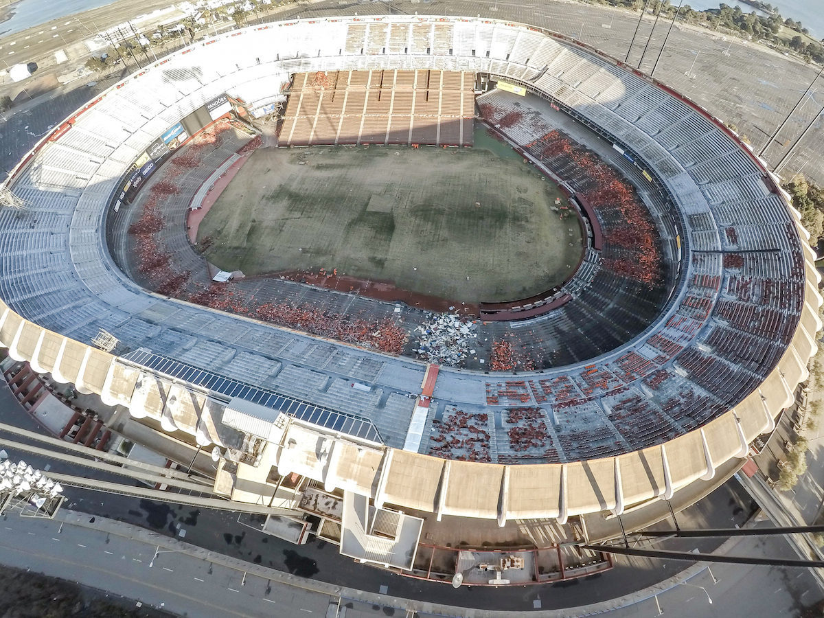 Abandonment Issues: Drone Photos Reveal a Ghostly Candlestick, Torn Up and Awaiting Demolition