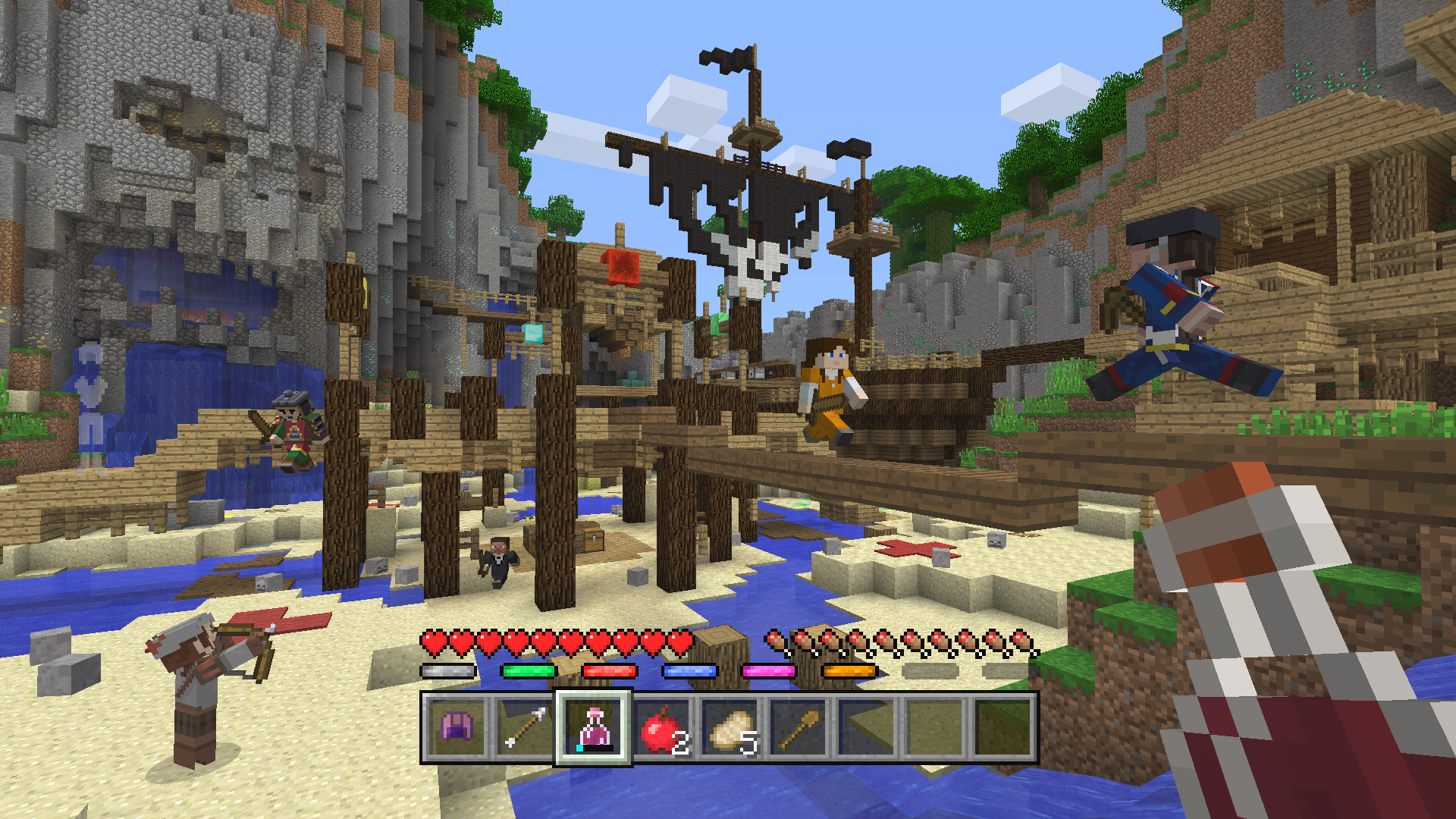All Minecraft Console Editions get free Battle minigame next month