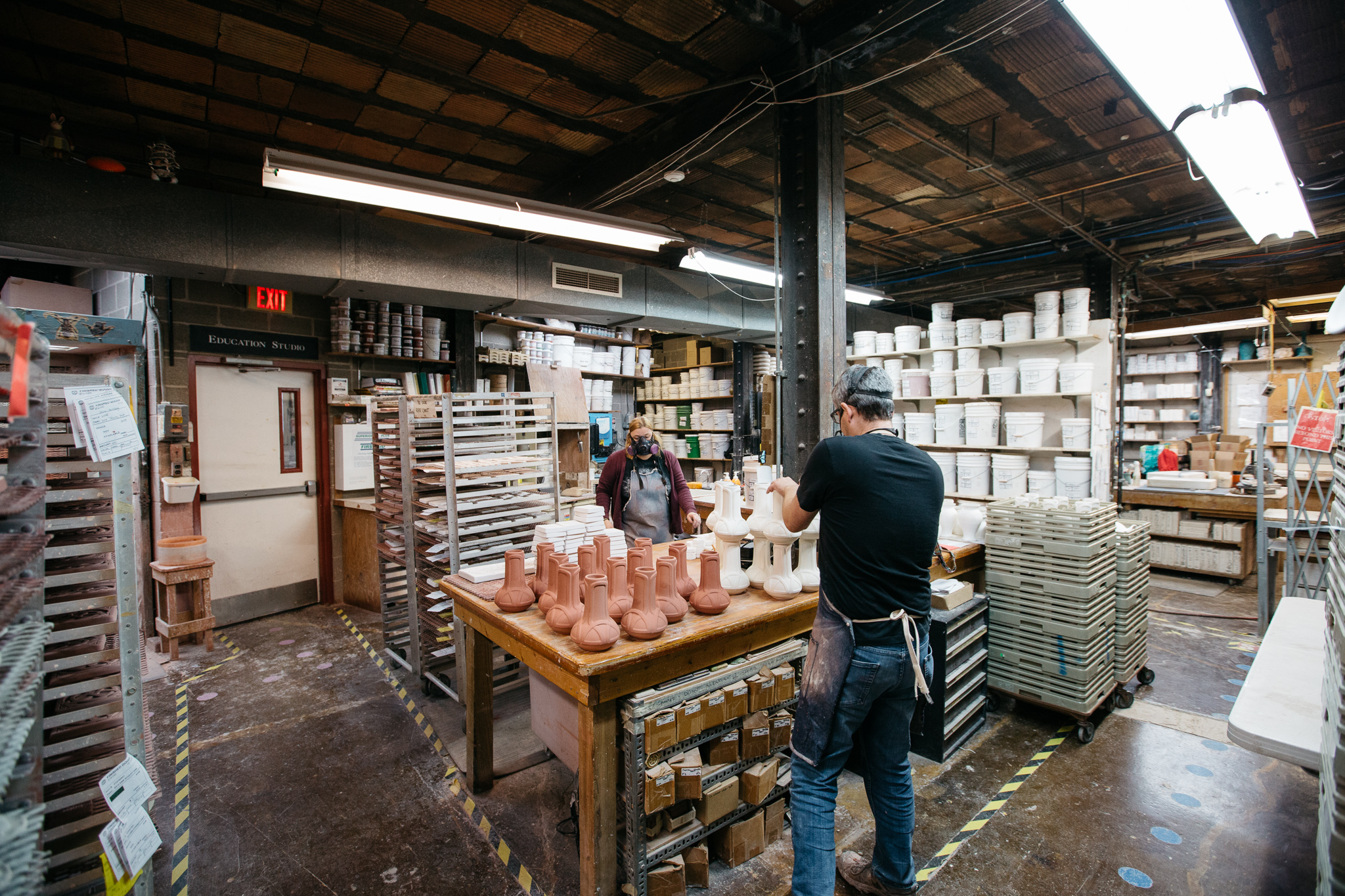 Inside the historic building that Pewabic Pottery calls home